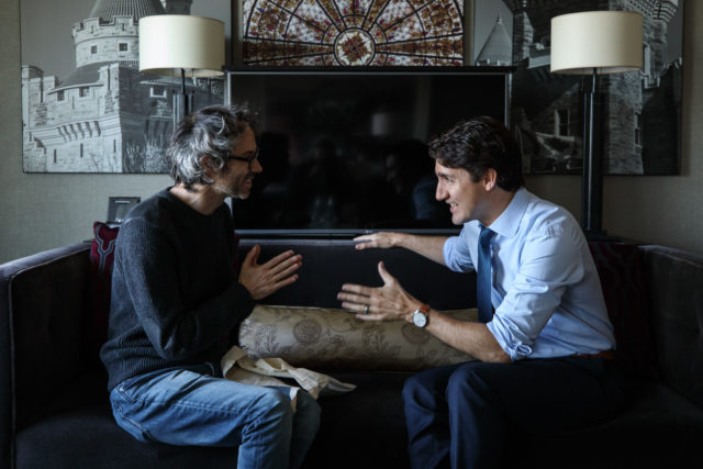 James Rhodes and Justin Trudeau