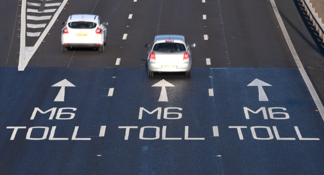 Traffic goes onto the M6 toll