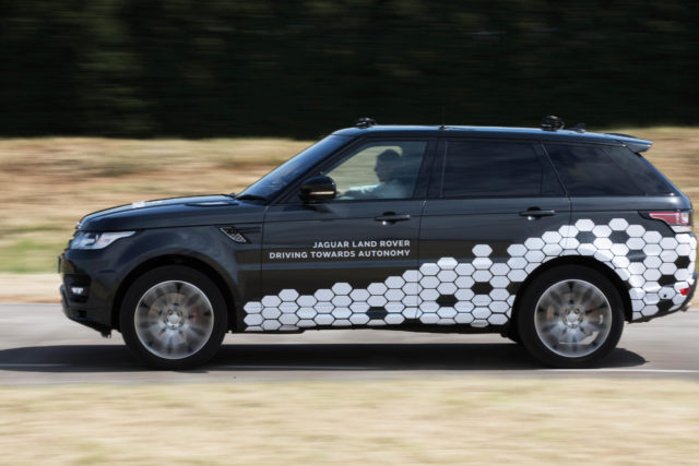 Prototype vehicle from Jaguar Land Rover