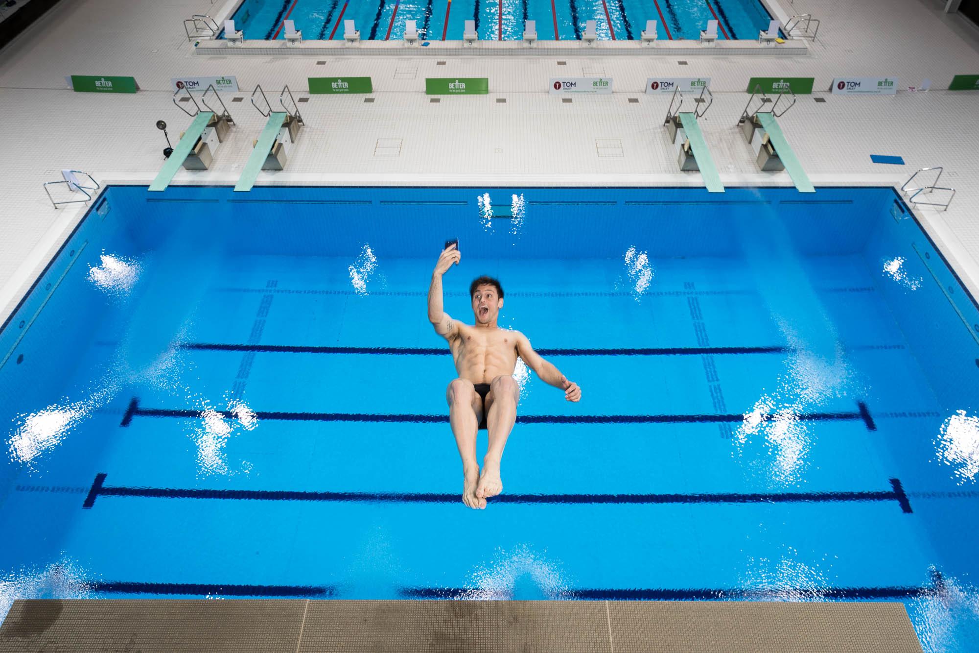 Tom Daley diving selfie