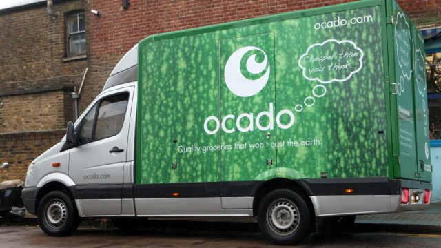 An Ocado home delivery van