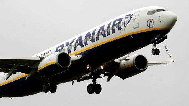 Ryanair's Glasgow Stansted service was temporarily suspended