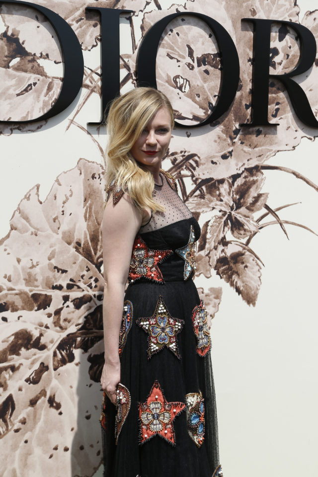 Kirsten Dunst at the Dior show