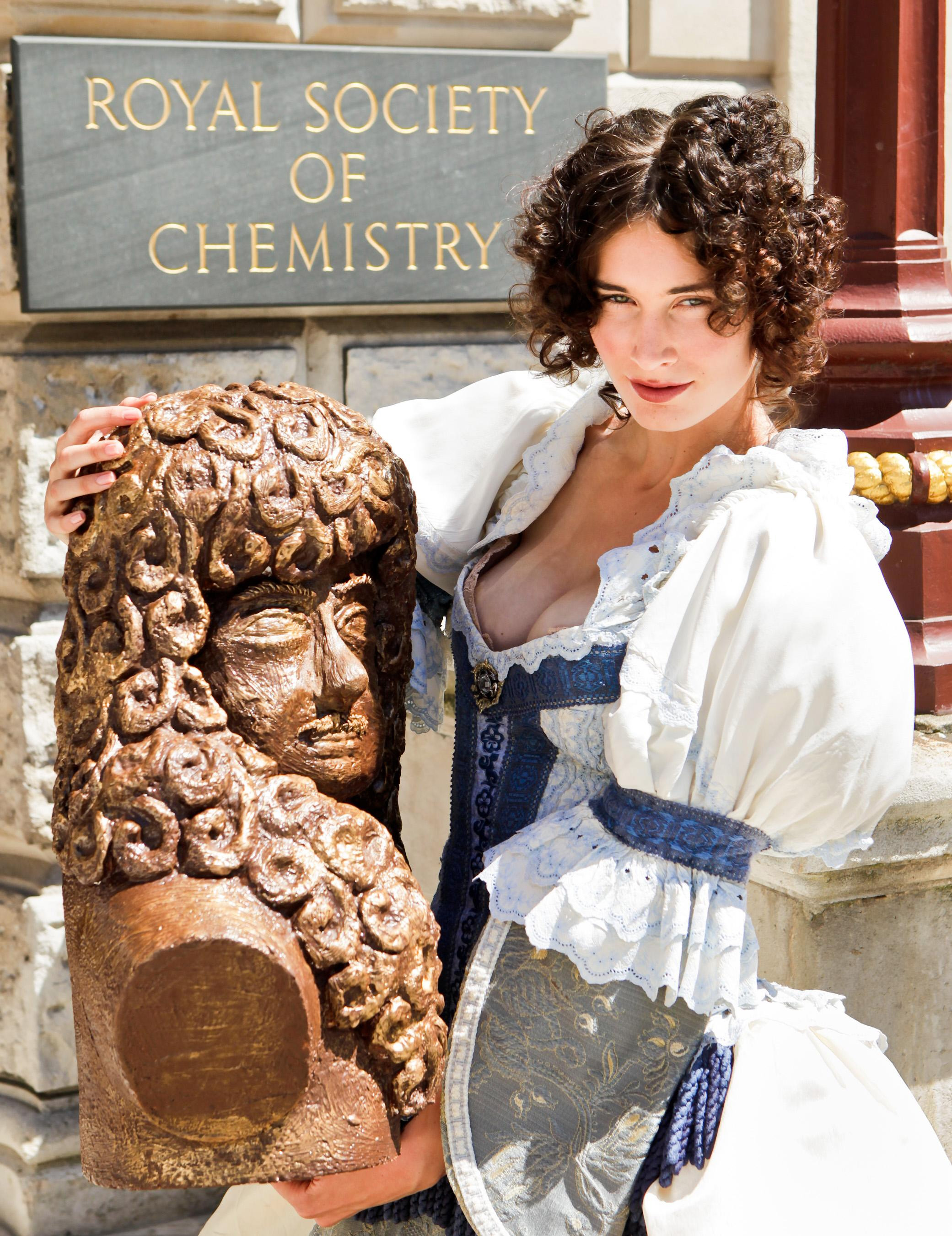 Jenna from Grimsby with the bust of Charles II