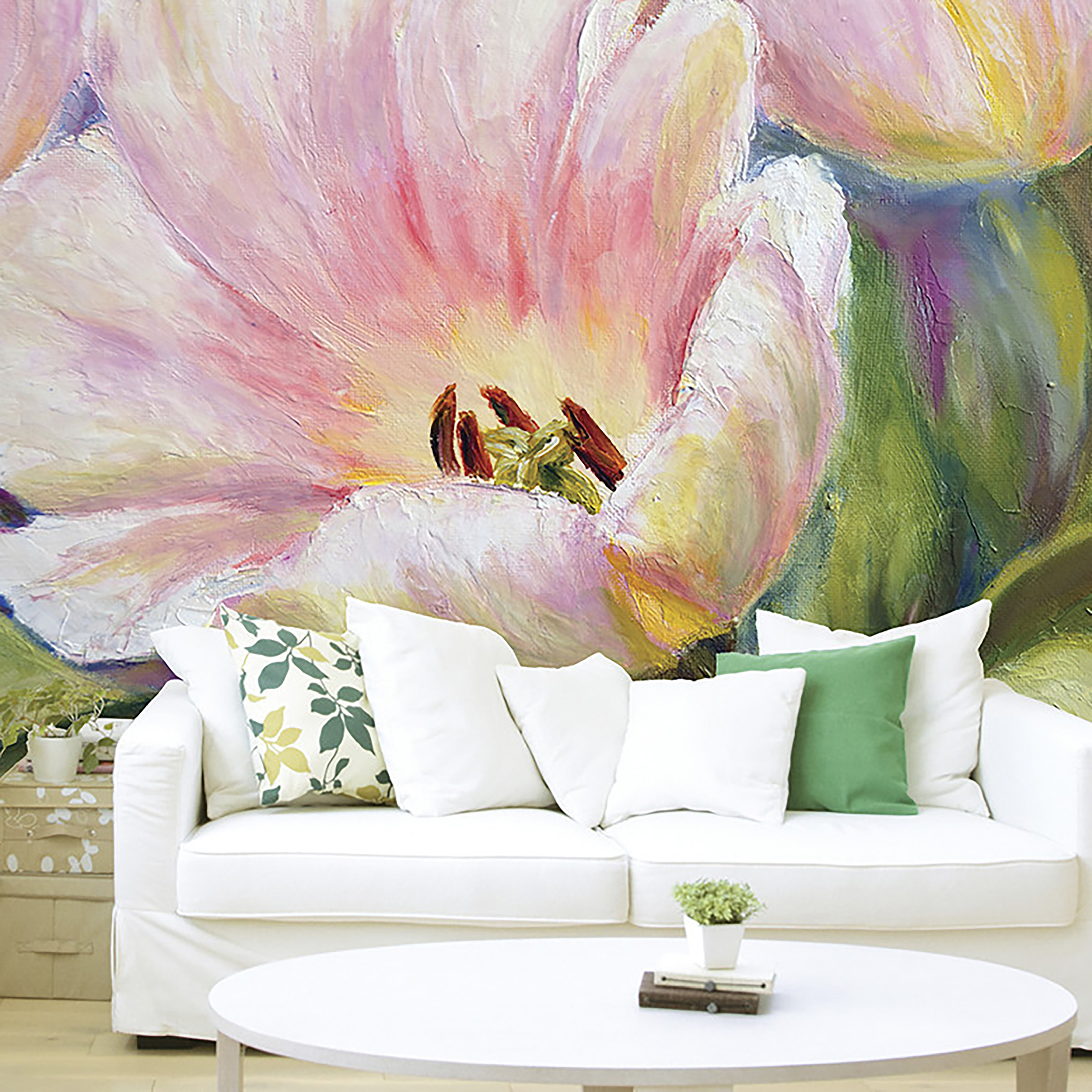 3 ways to work florals into your decor now bt graham brown painted tulips wall mural currently reduced to 35 from 60 izmirmasajfo