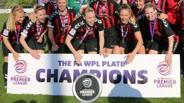 Lewes FC footballers celebrate