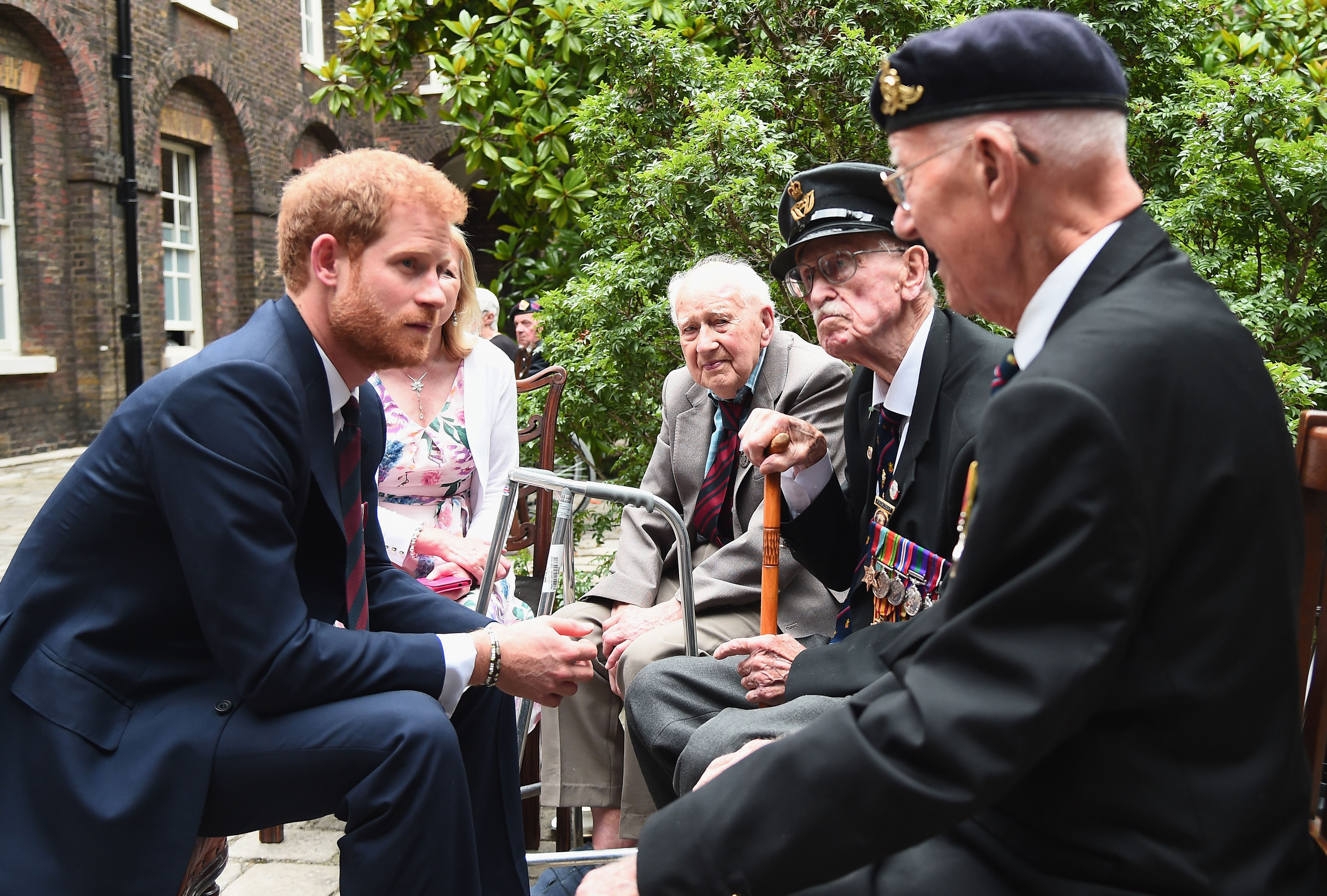 Prince Harry with Dunkirk veterans