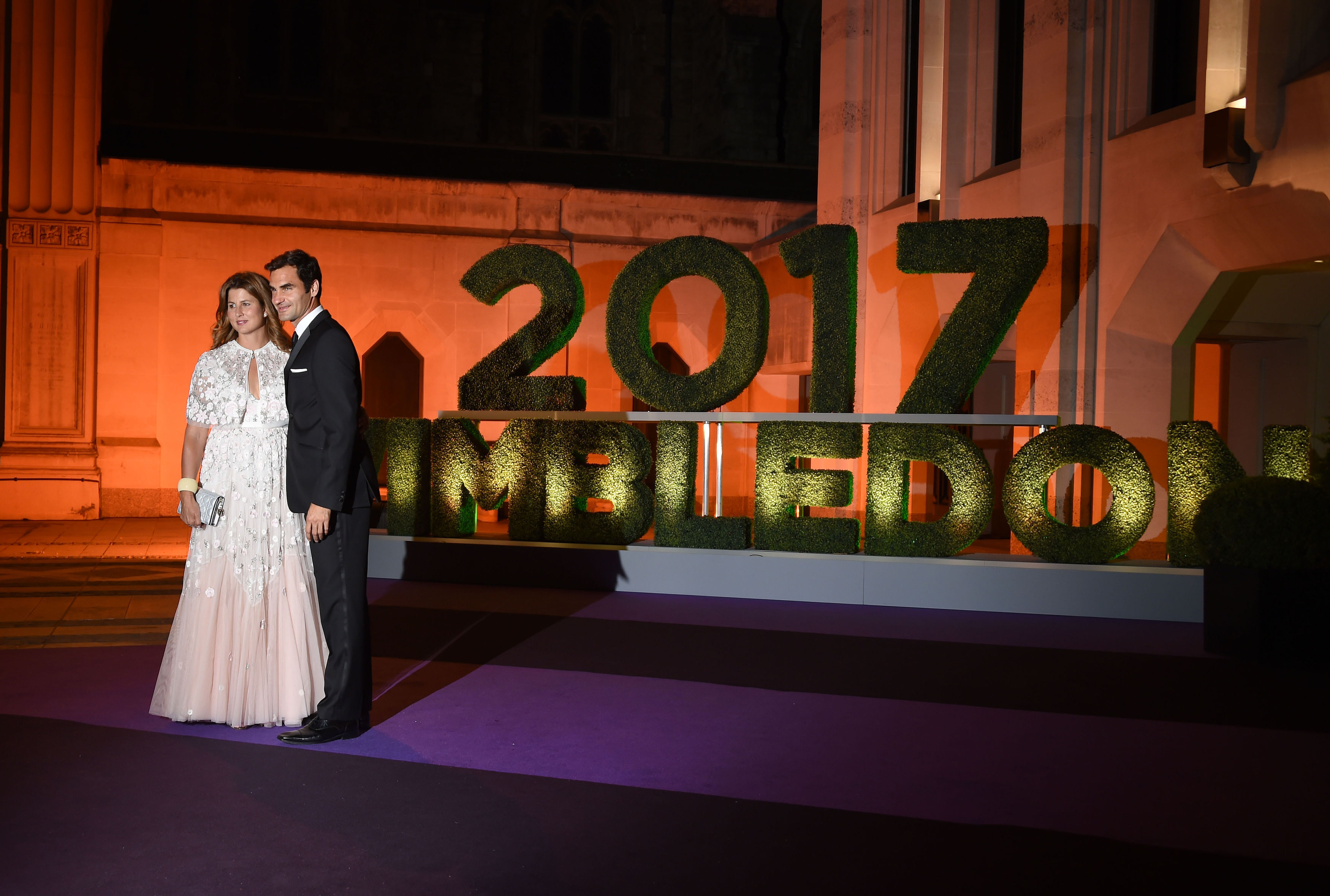 Roger and Mirka Federer arriving at the Wimbledon Champions Dinner 2017, at the Guildhall, London.