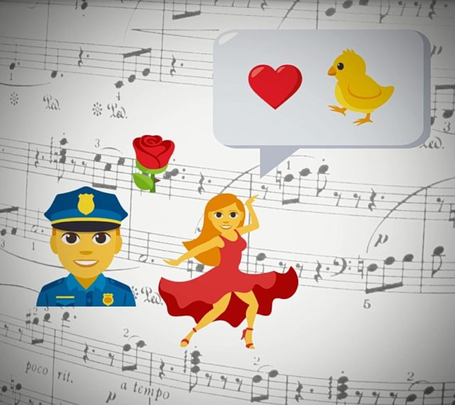 Carmen depicted in emoji