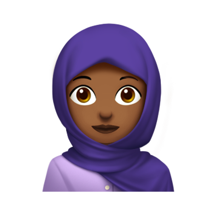 woman with headscarf emoji
