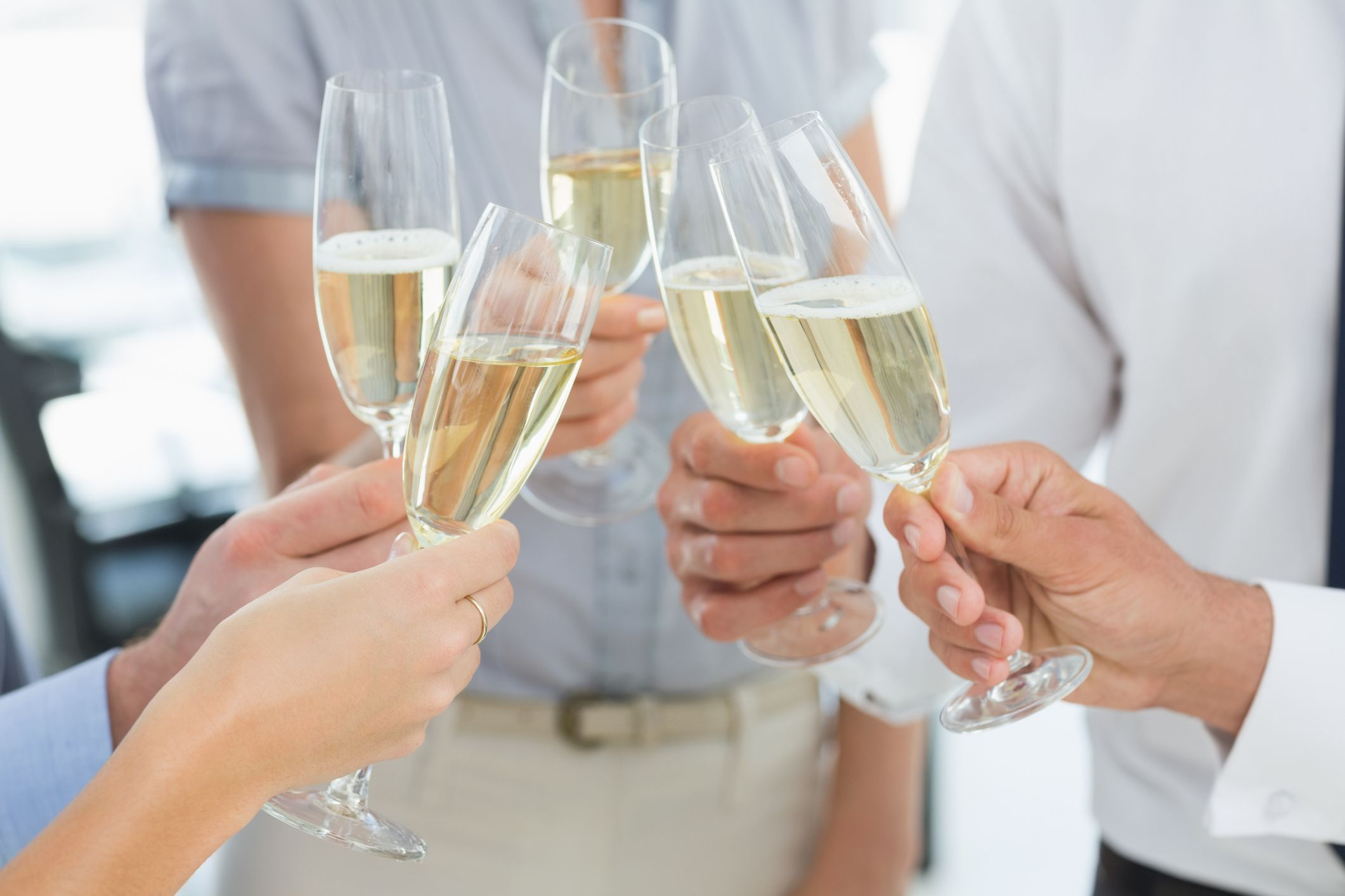 Hands toasting with champagne (Thinkstock/PA)