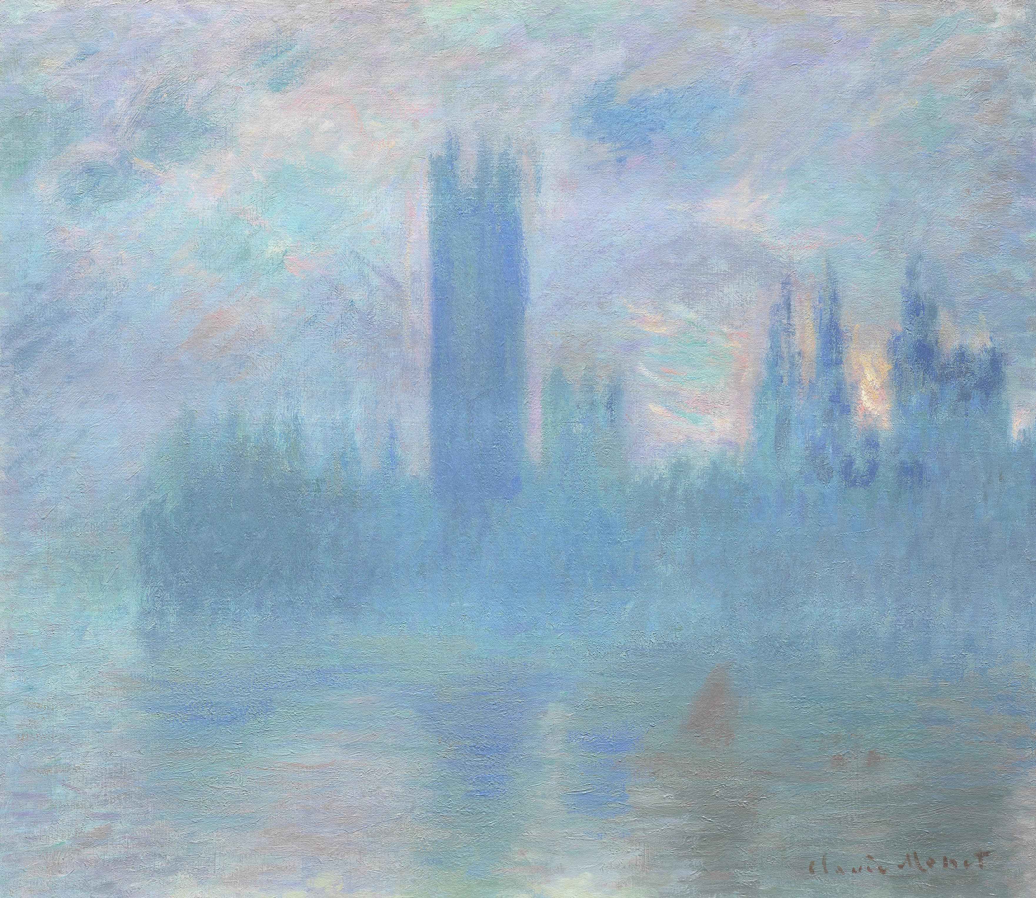 an analysis of the works of the french impressionist painter claude monet Claude monet french, 1840–1926   en  claude monet water lilies, reflections of weeping  5 works online.