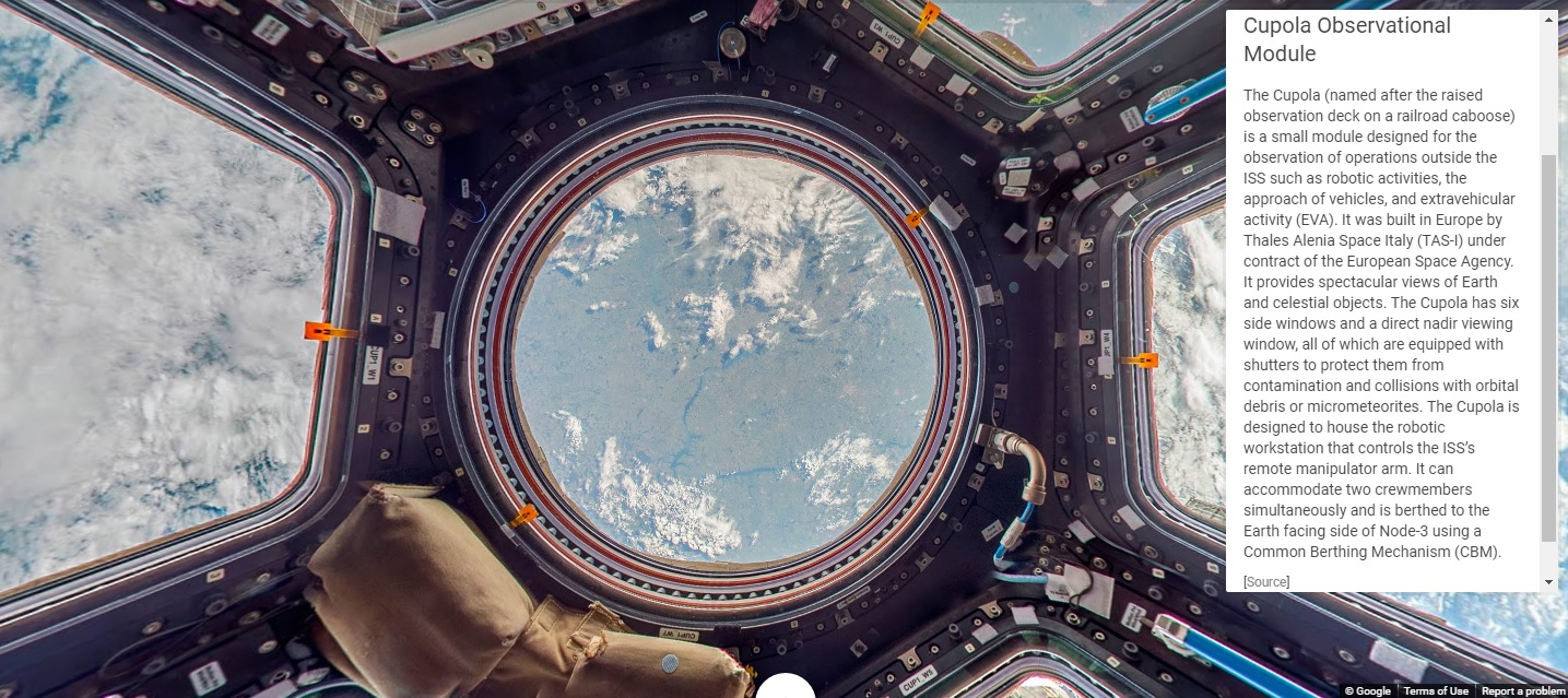 Google Street View of the ISS