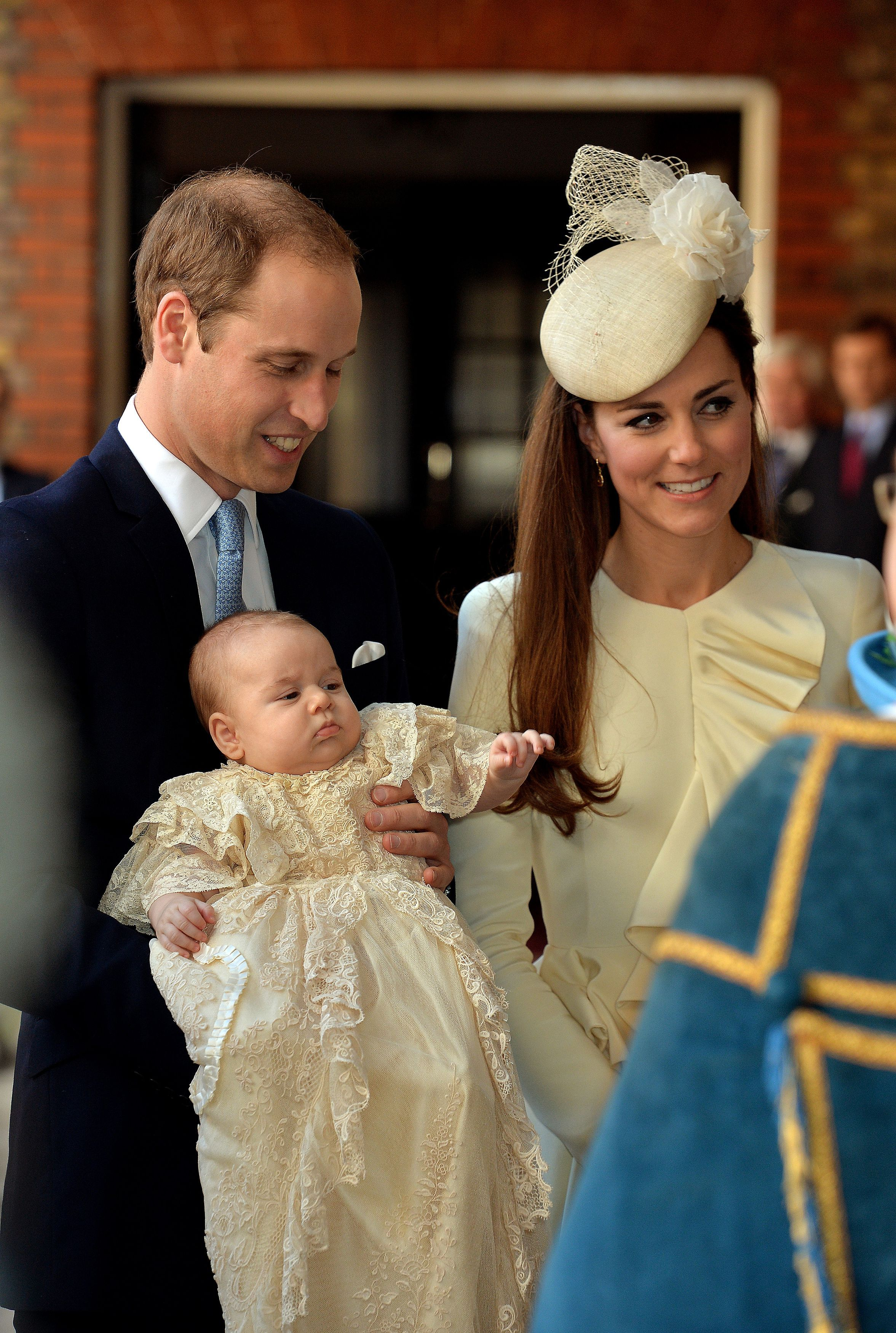 The Duke and Duchess with the baby