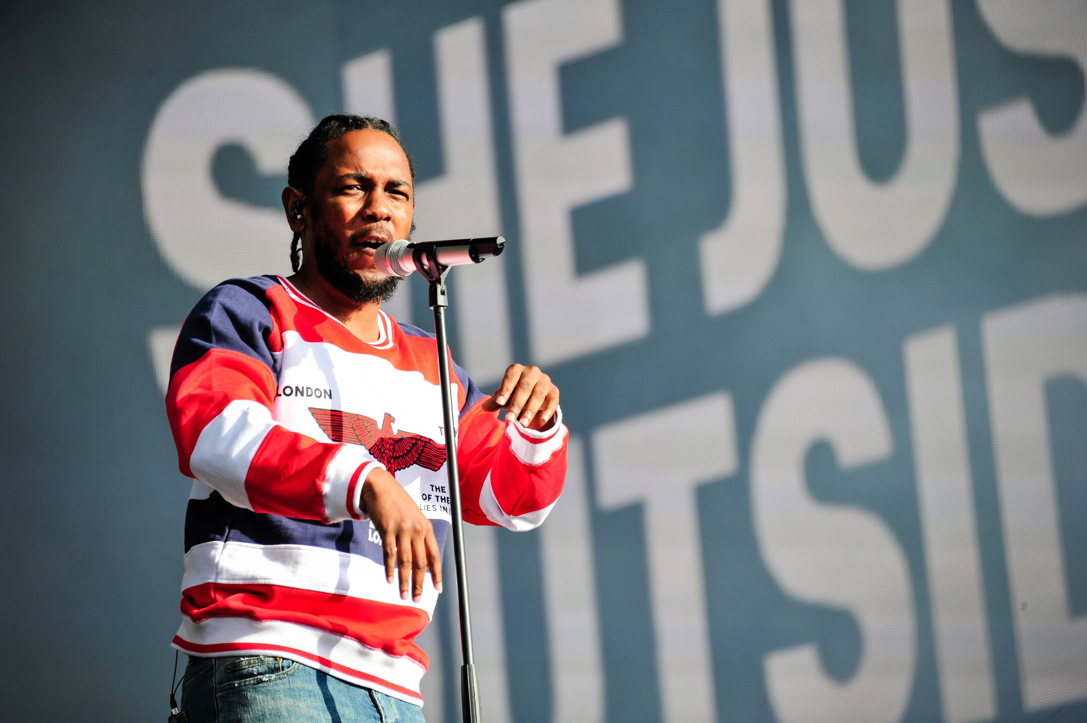 Kendrick Lamar performing at the British Summer Time festival at Hyde Park in London.
