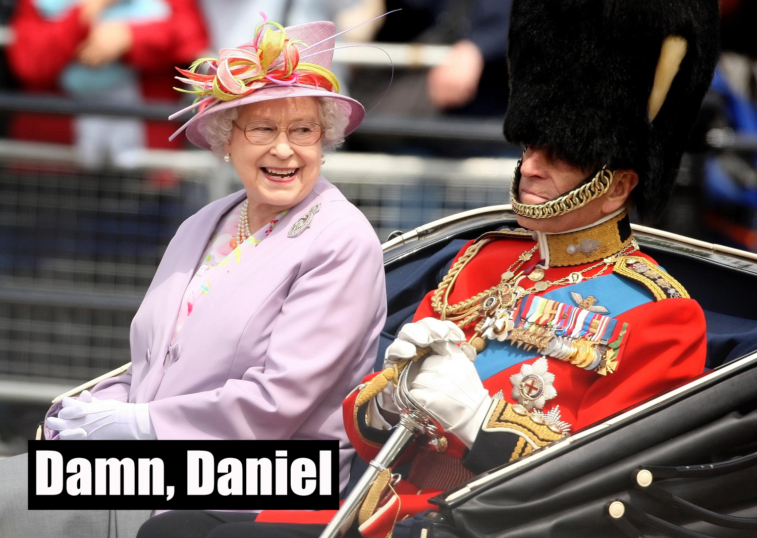 The Duke of Edinburgh and the Queen look happy (Dominic Lipinski/PA)