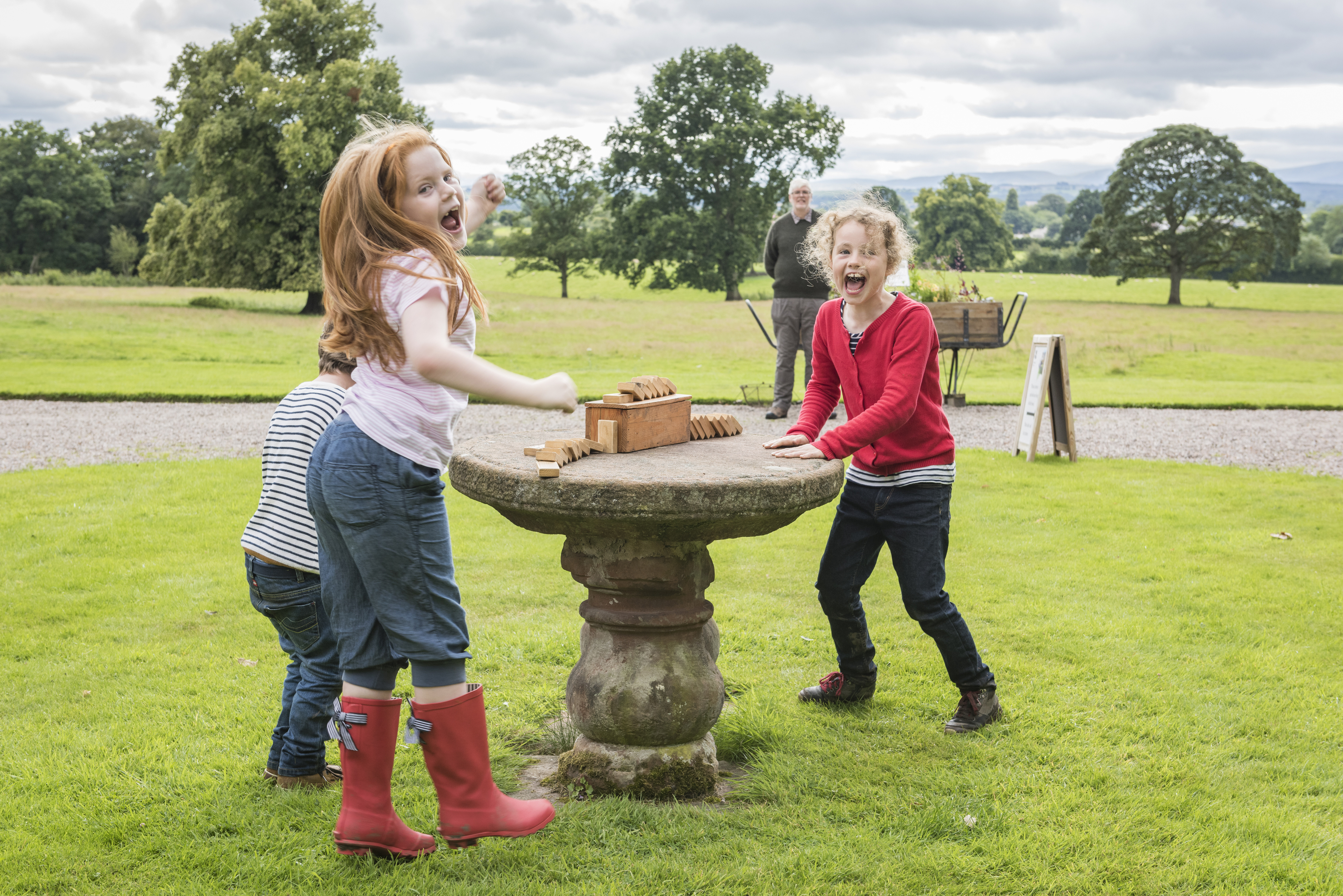 Dominos at Acorn Bank, Cumbria (Stewart Smith/National Trust/PA)
