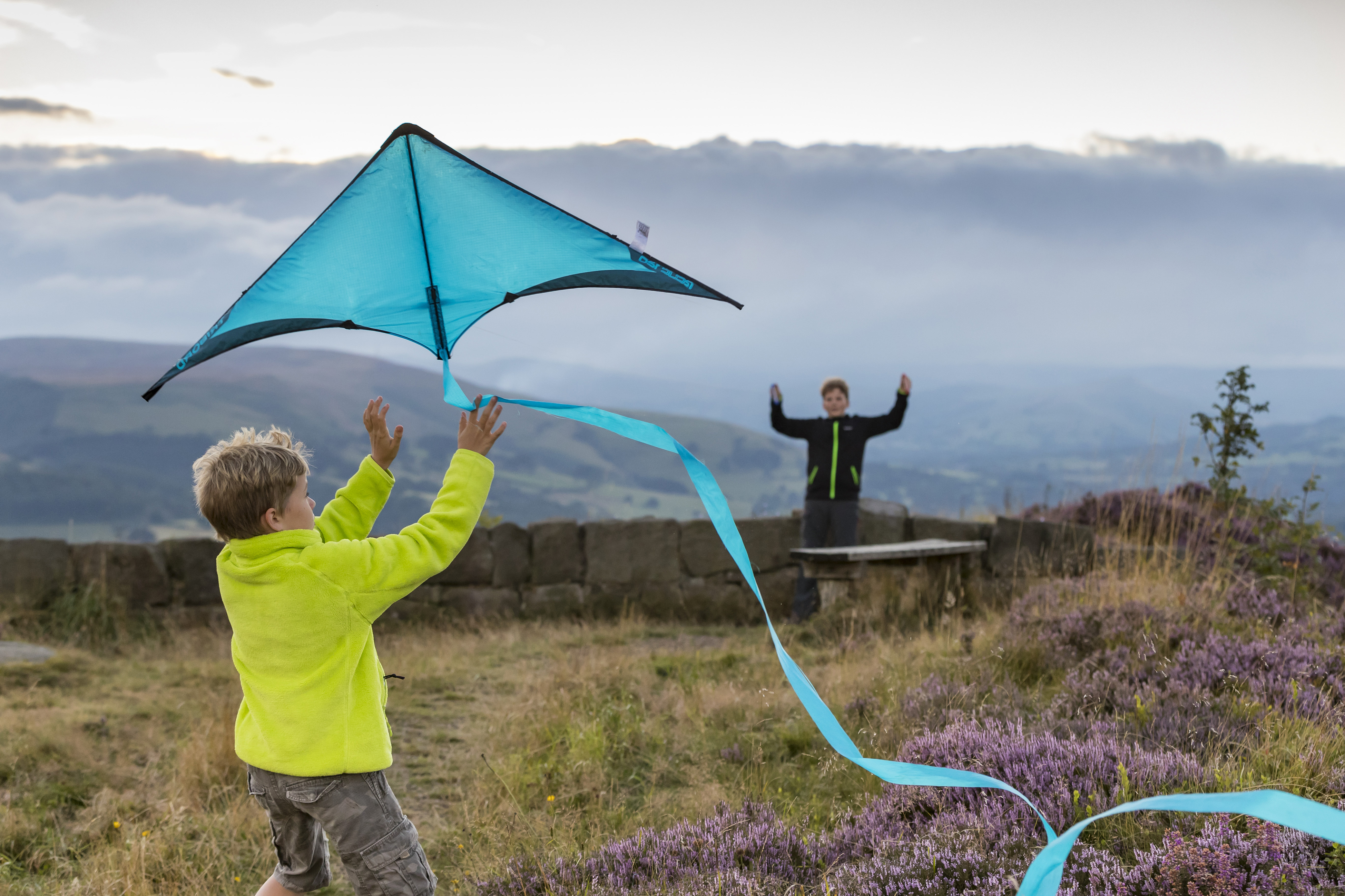 Children flying a kite at Longshaw (Chris Lacey/National Trust/PA)