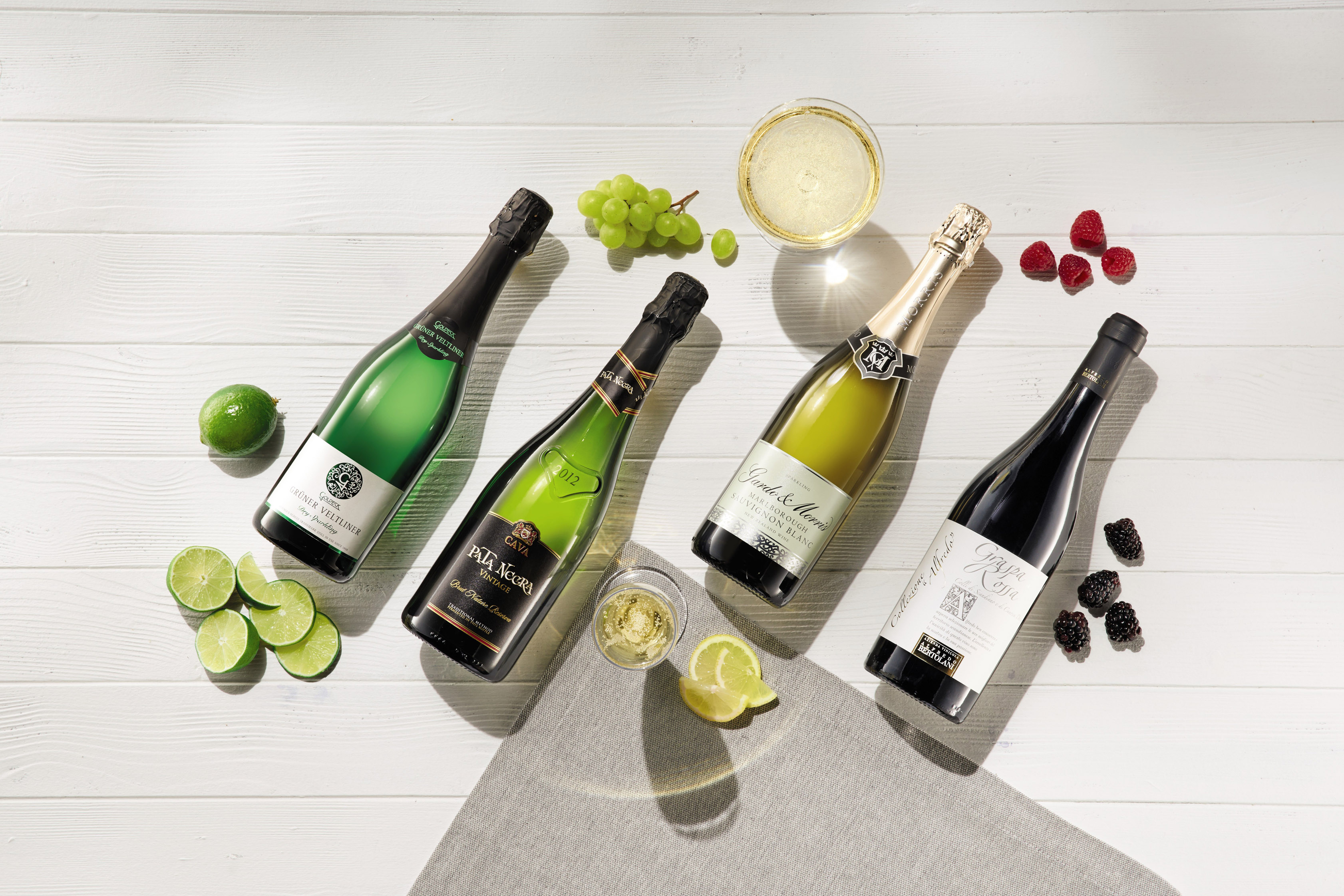 Aldi's selection of wedding wines (Aldi/PA)