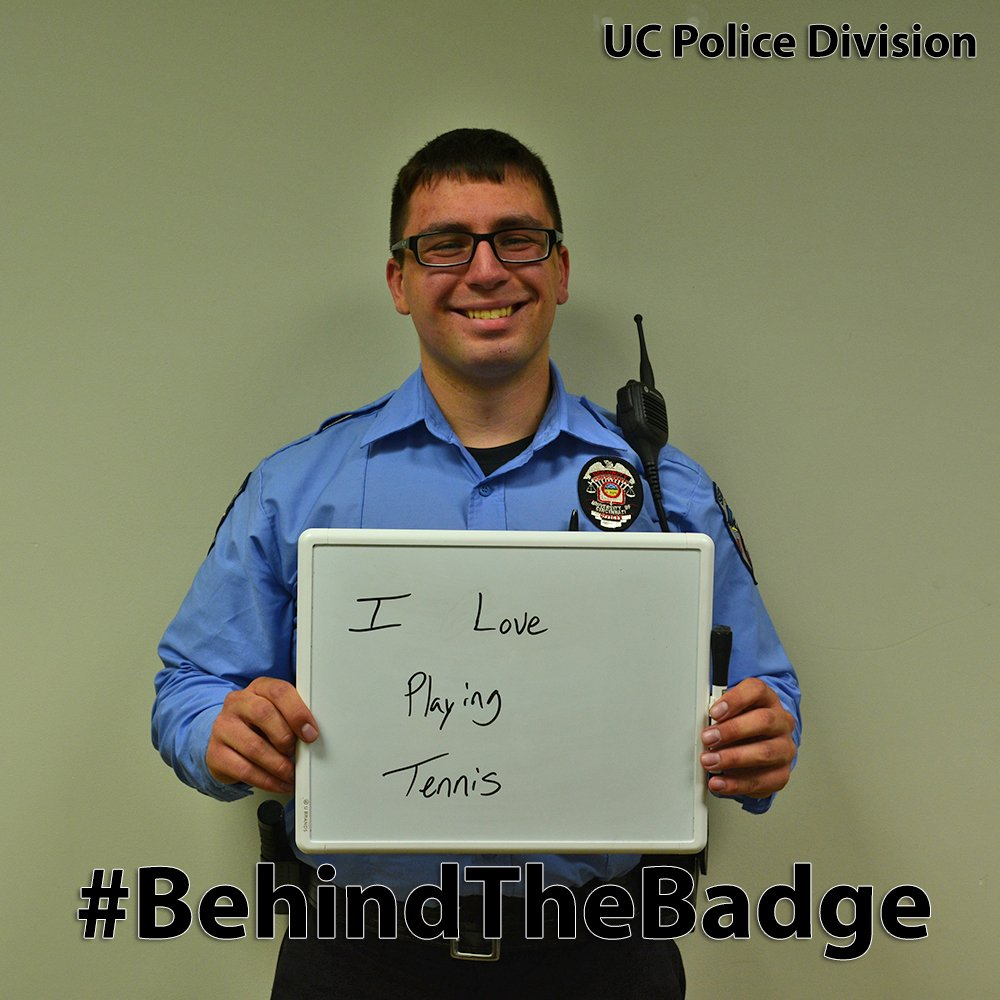 Bransen Panezott takes part in BehindTheBadge  (UC Public Safety)