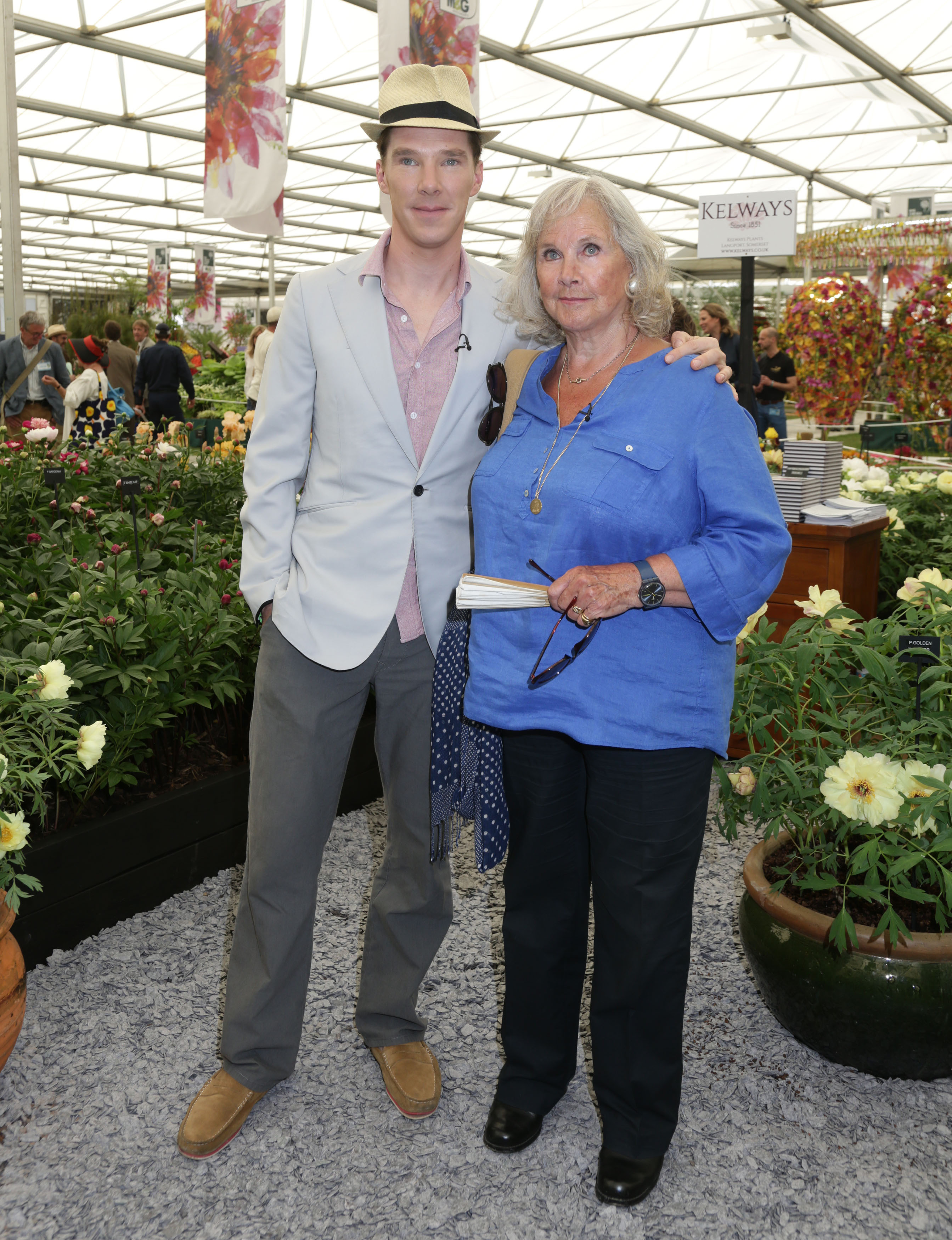 Benedict Cumberbatch and his mother Wanda Ventham