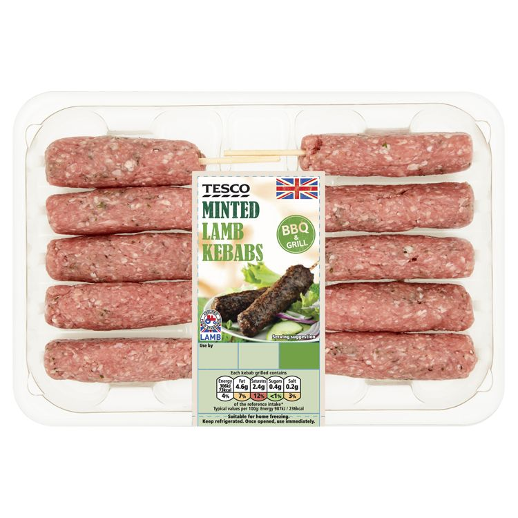 Linted lamb kebabs from tesco
