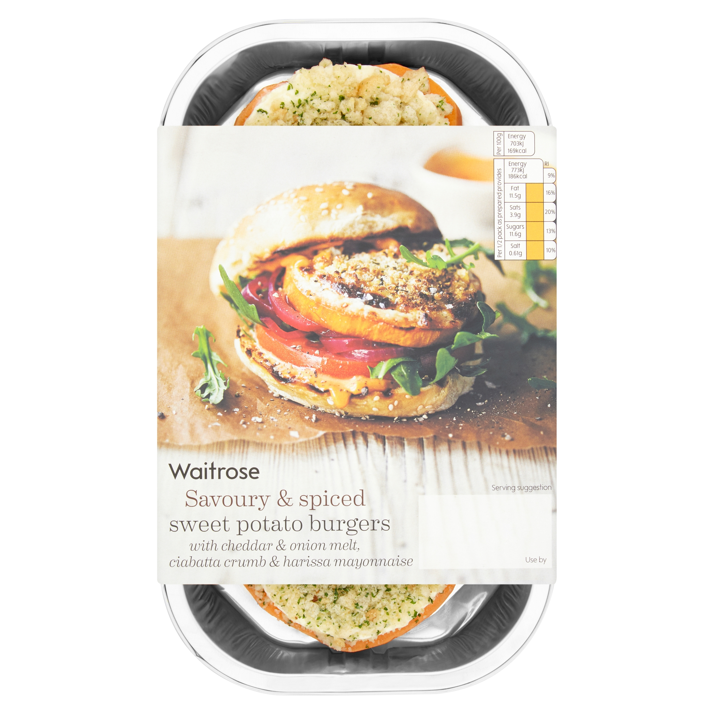 Sweet potato burgers from Waitrose