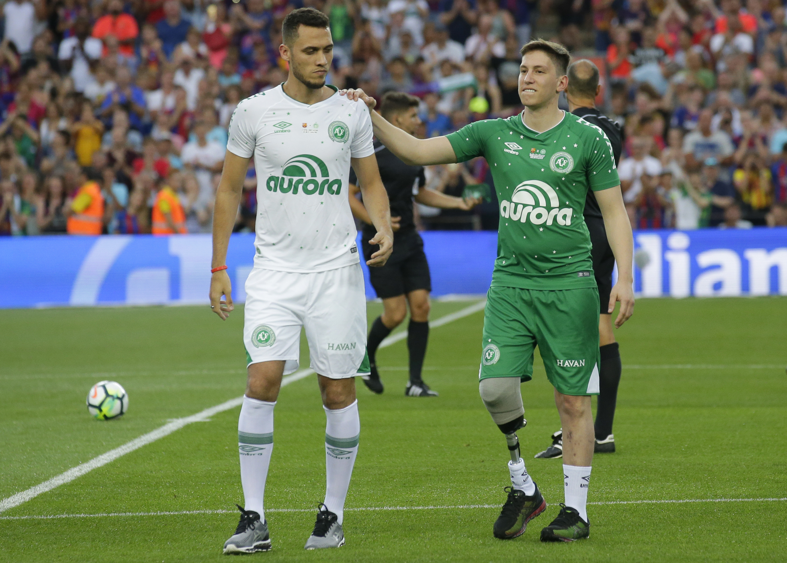 Chapecoense's Neto and Jakson Follmann