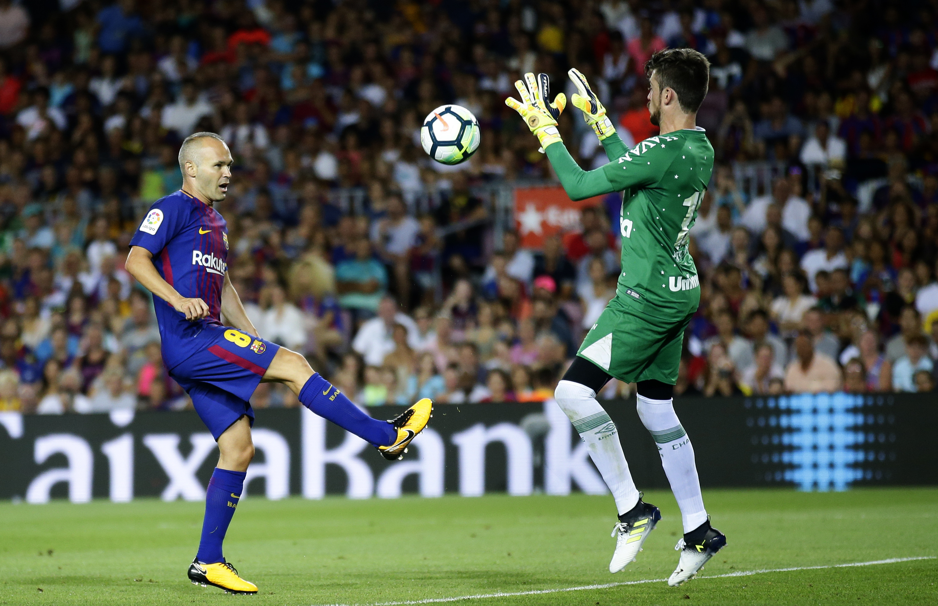 Andres Iniesta during a Barcelona v Chapecoense friendly