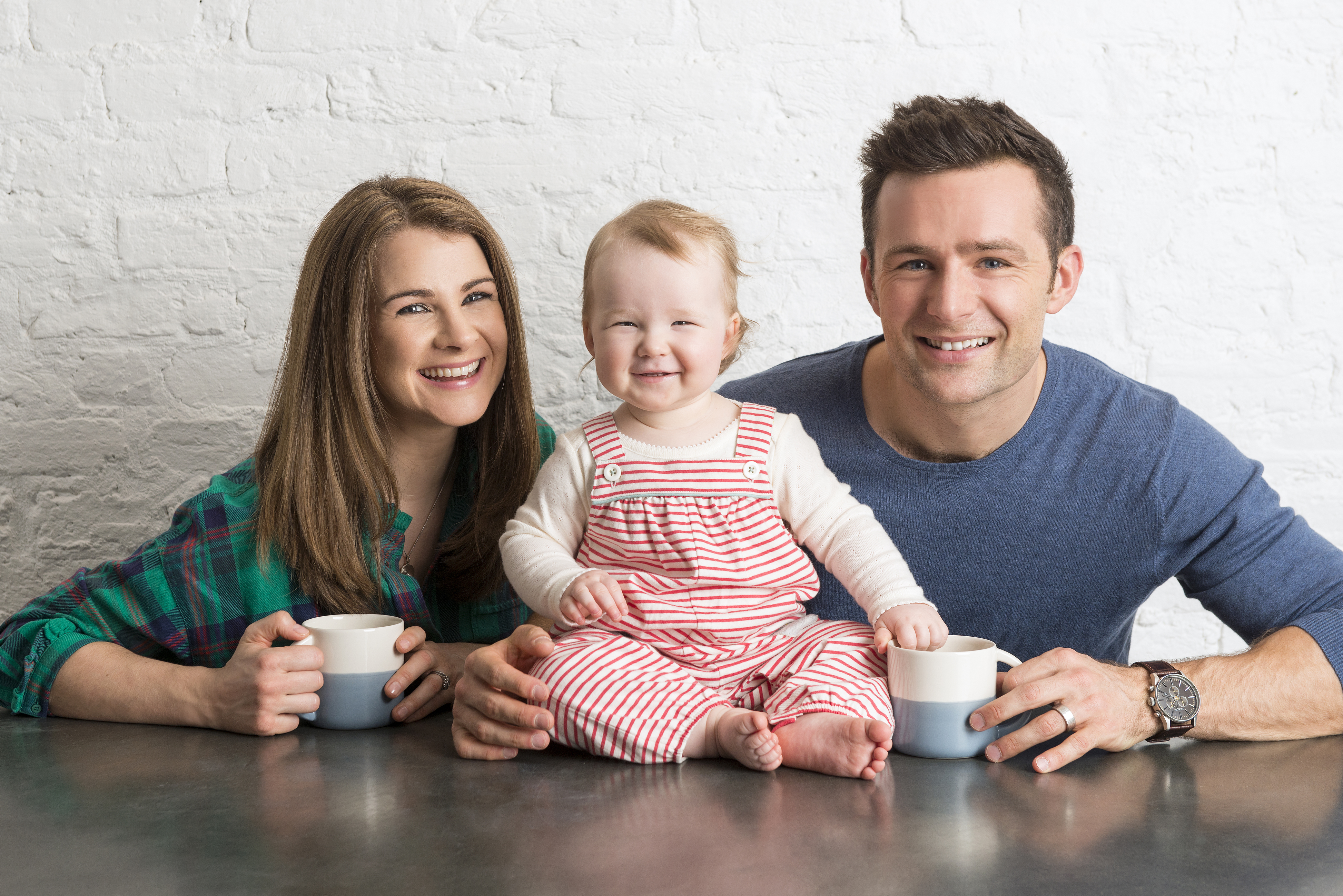 Izzy Judd with husband Harry Judd and their daughter Lola (MLR/Bantam Press/P)