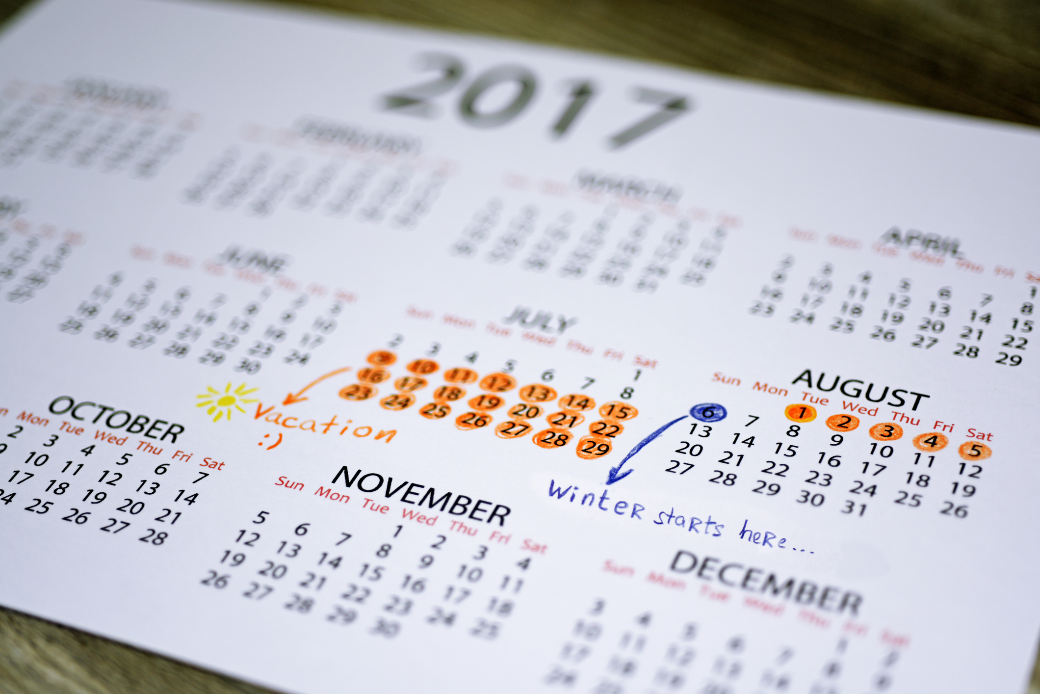 A calendar showing summer holiday dates (Thinkstock/PA)