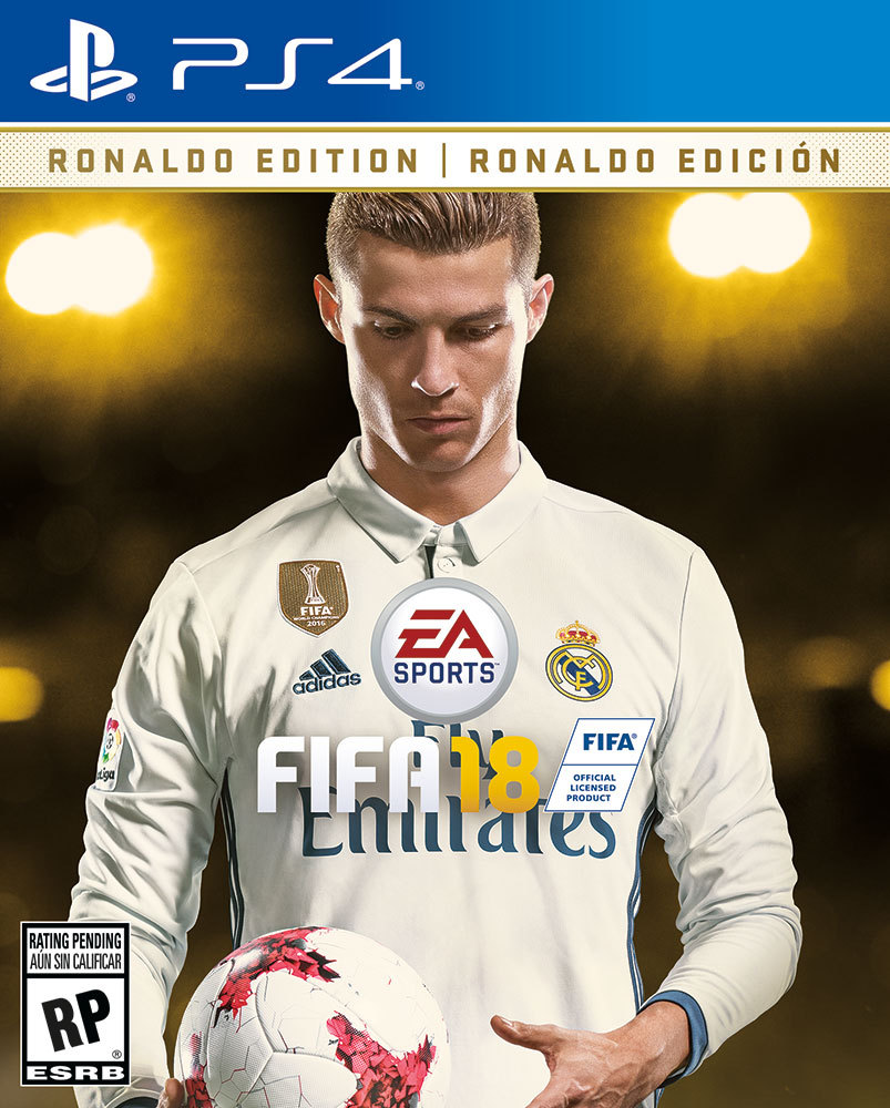 Ronaldo on the cover of Fifa 18