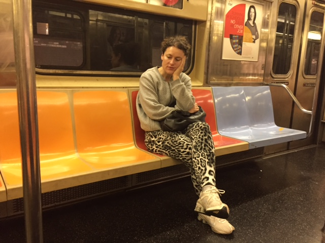 Girl on Subway train