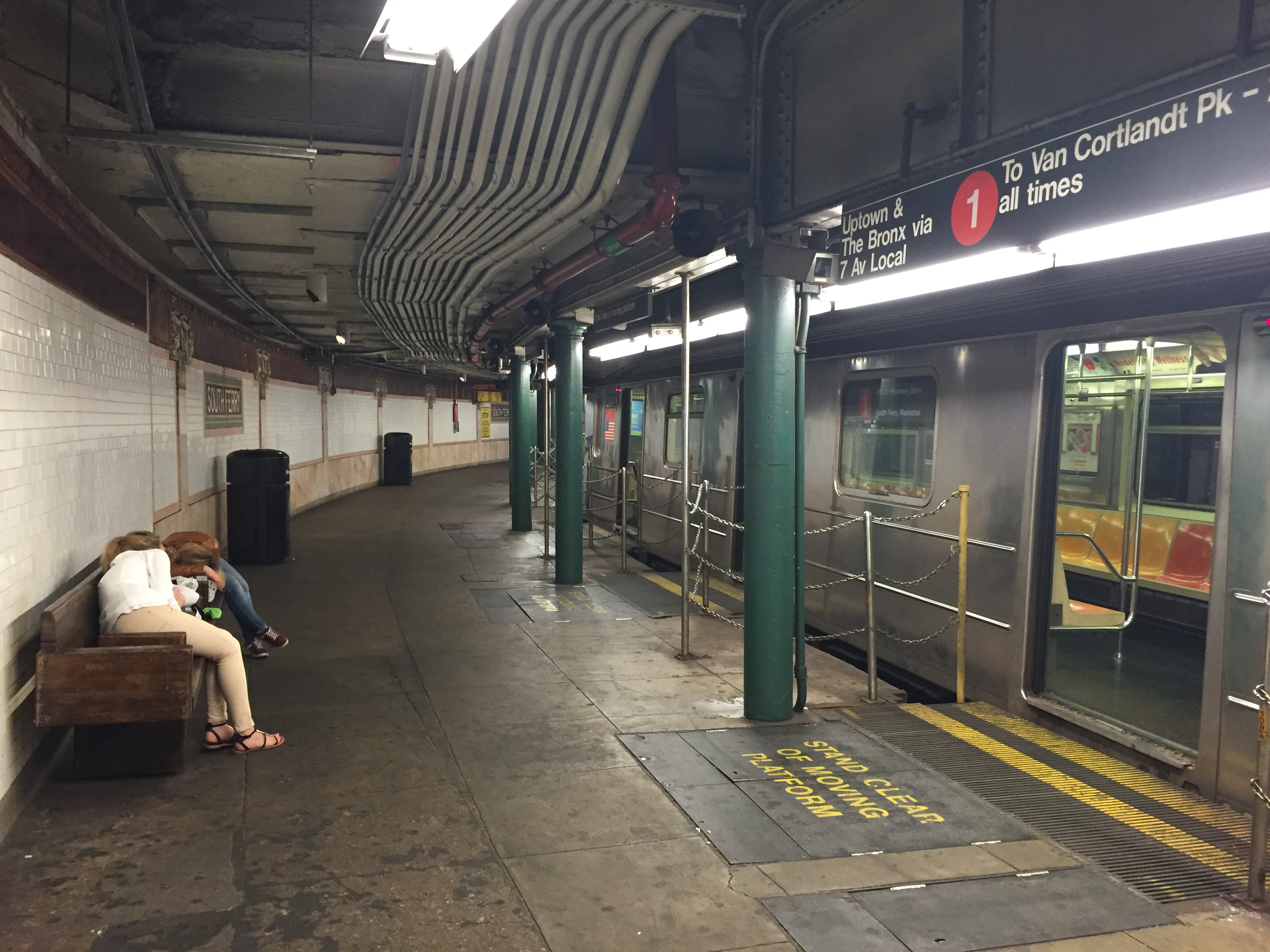 Empty Subway platform