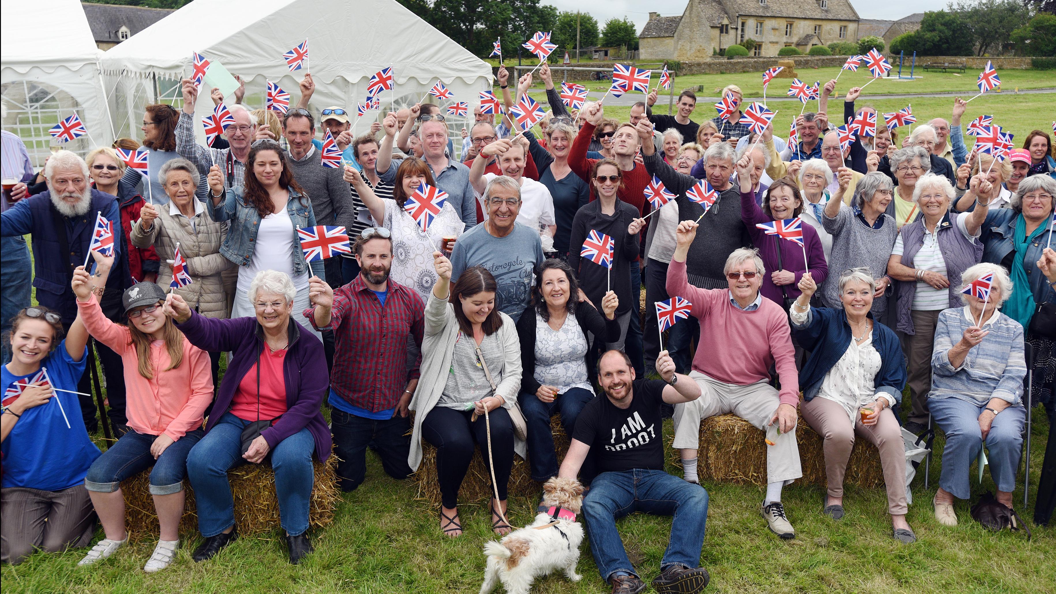 Bledington villagers.