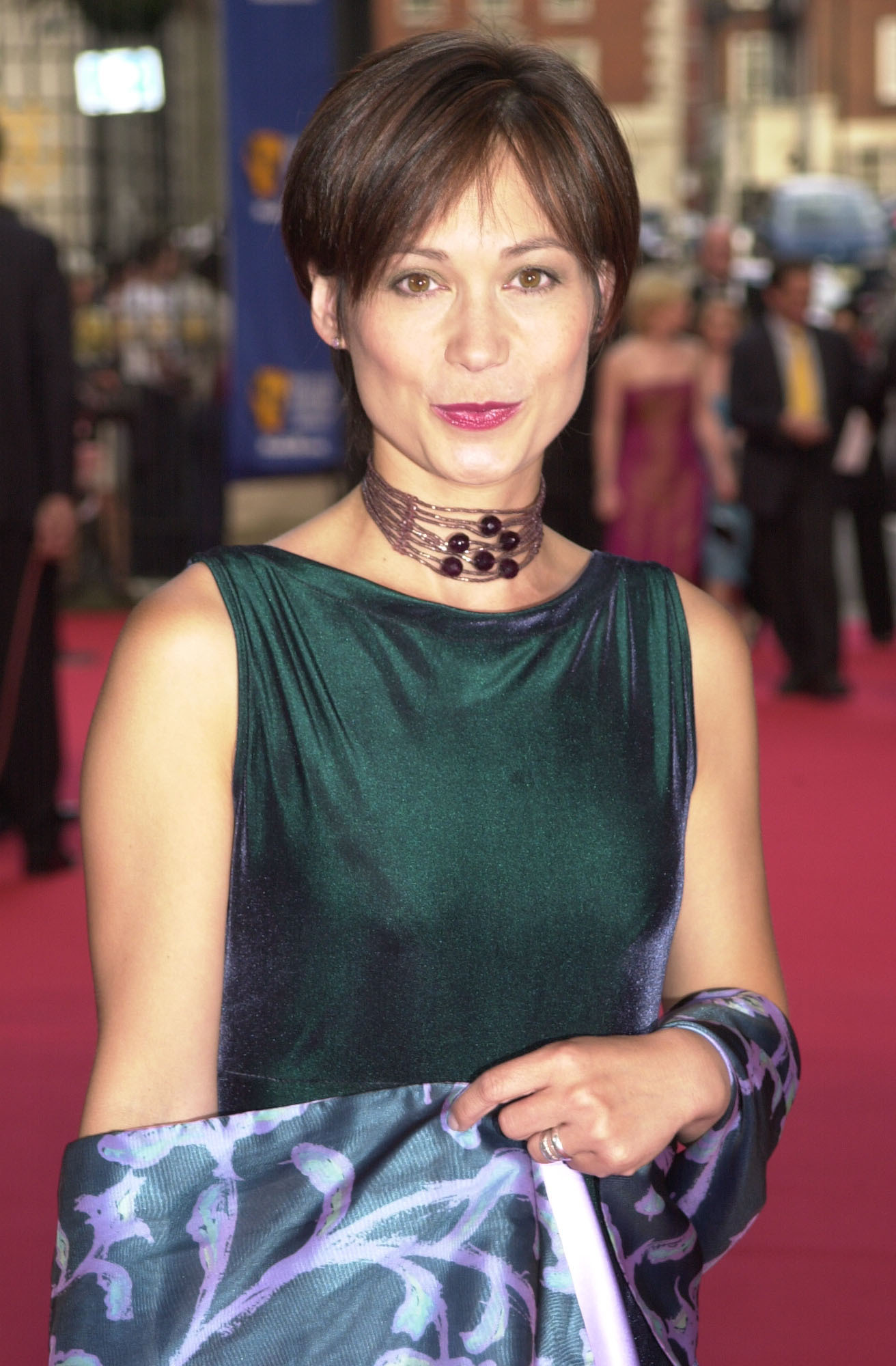 Leah Bracknell on the red carpet in 2001