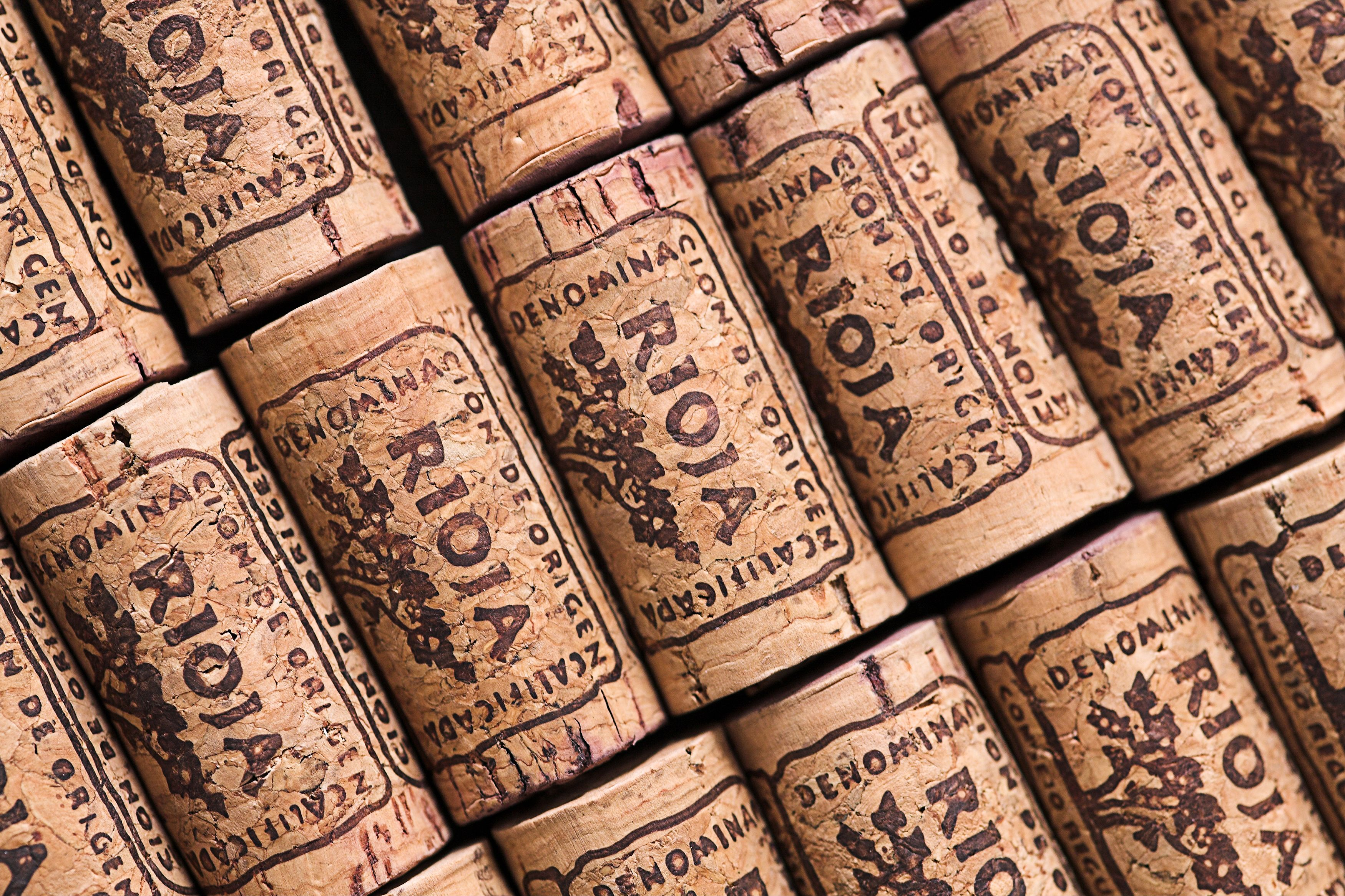 Rows of Rioja wine corks (Thinkstock/PA)