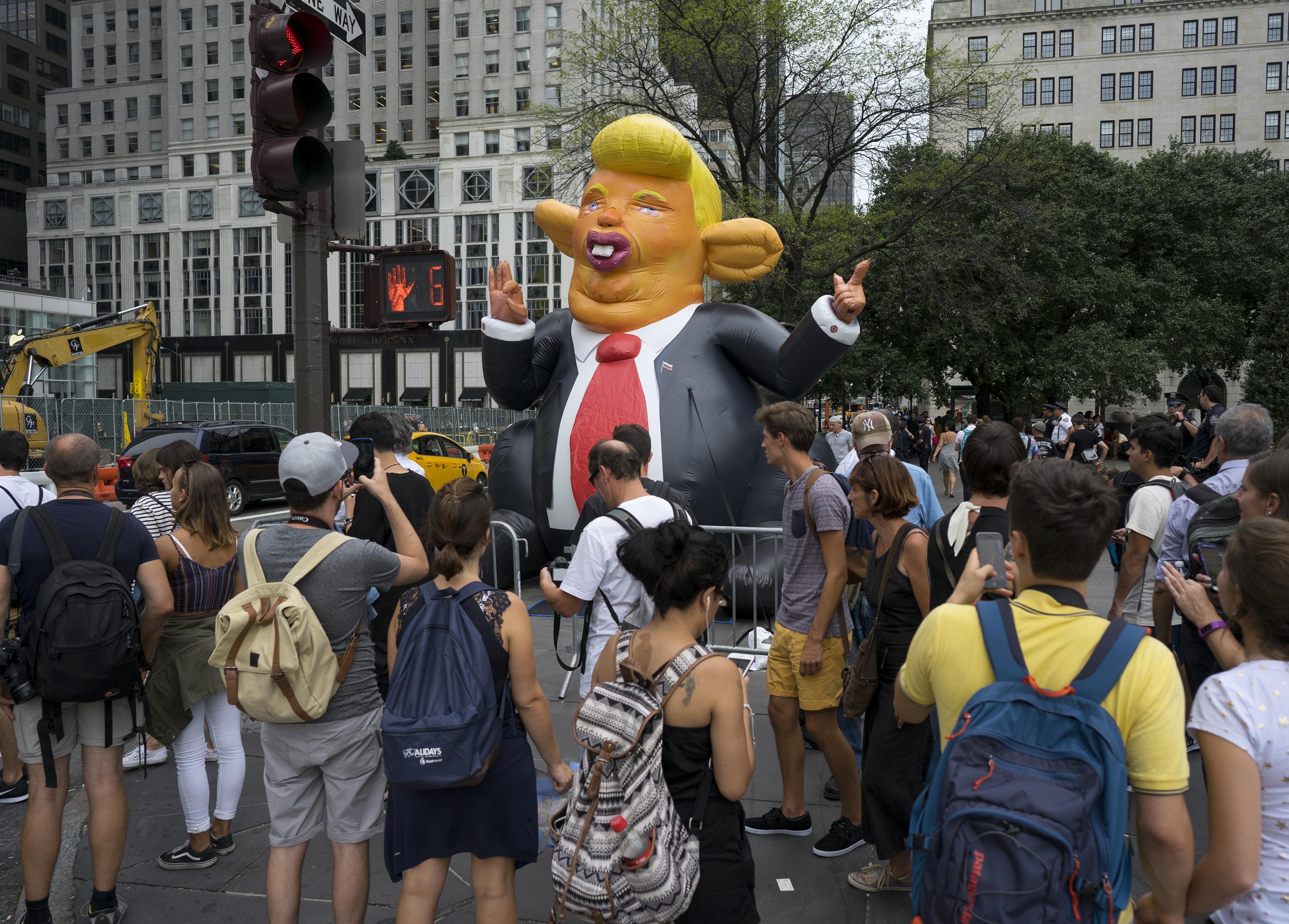 Trump caricature balloon