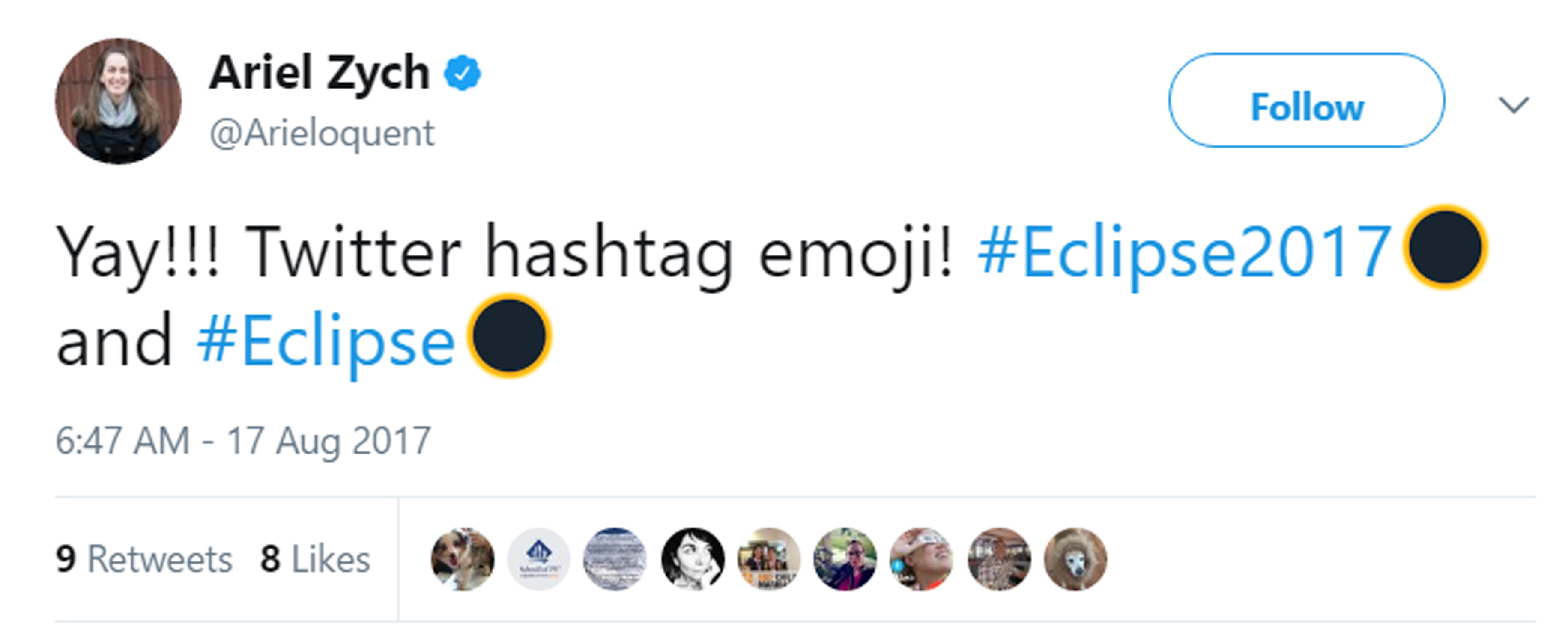 Eclipse emoji.