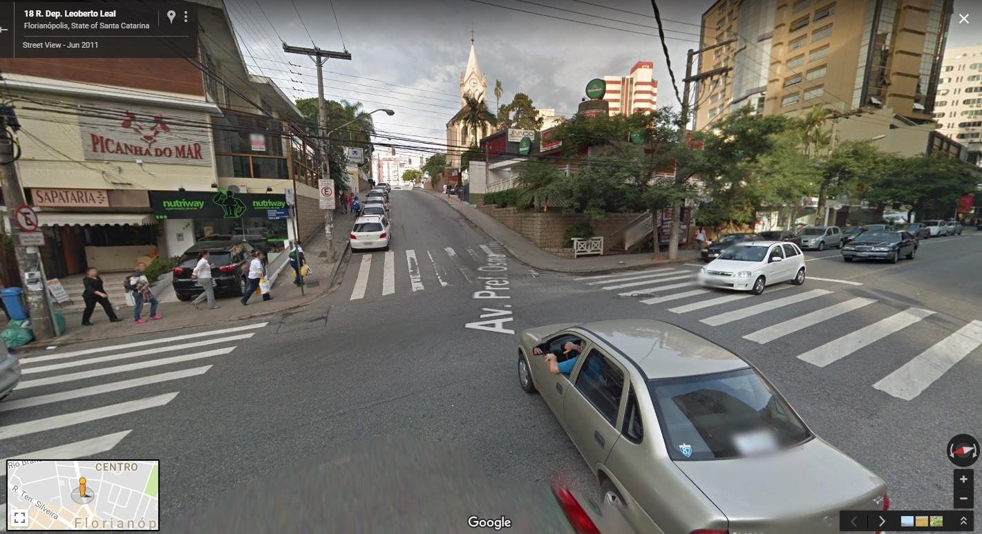 The street in Brazil before you step forward