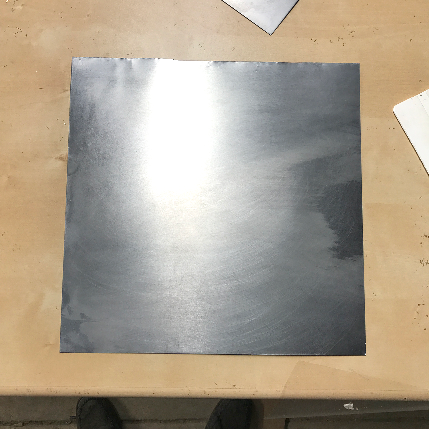 The sheet of metal