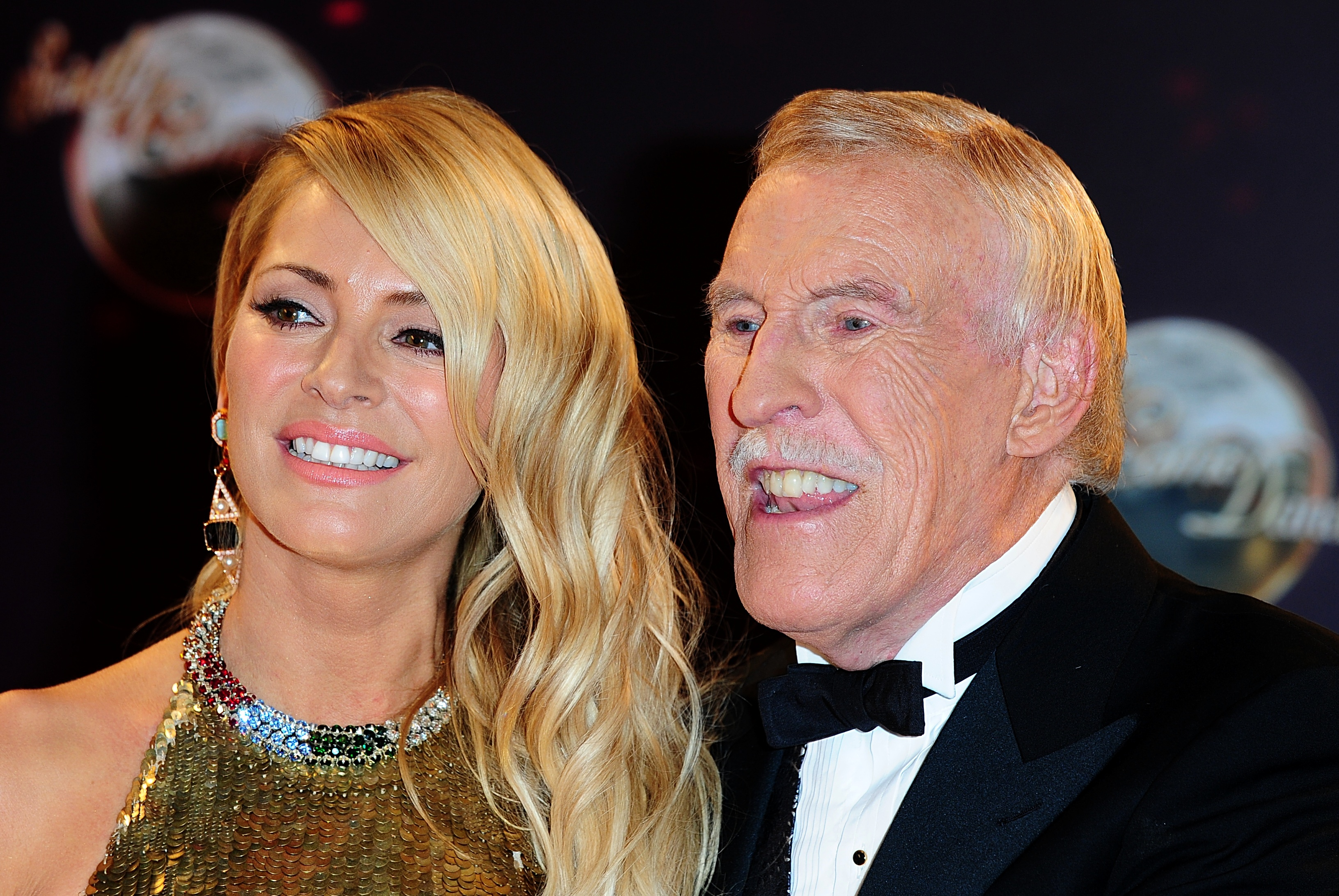 With Strictly co-host Tess Daly (PA)