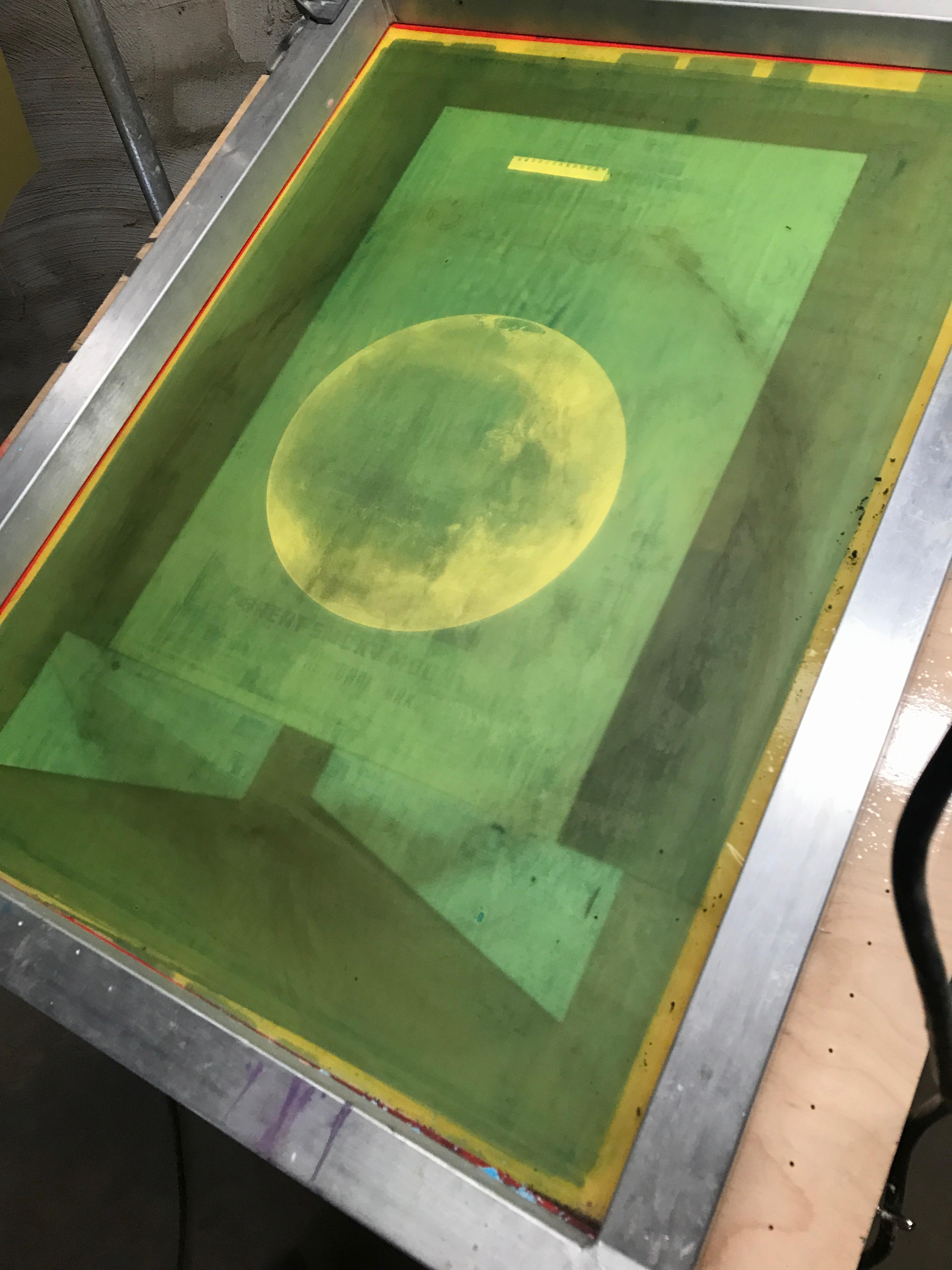 The screen printing