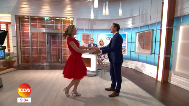 Charlotte and Brendan dancing on Good Morning Britain (ITV)