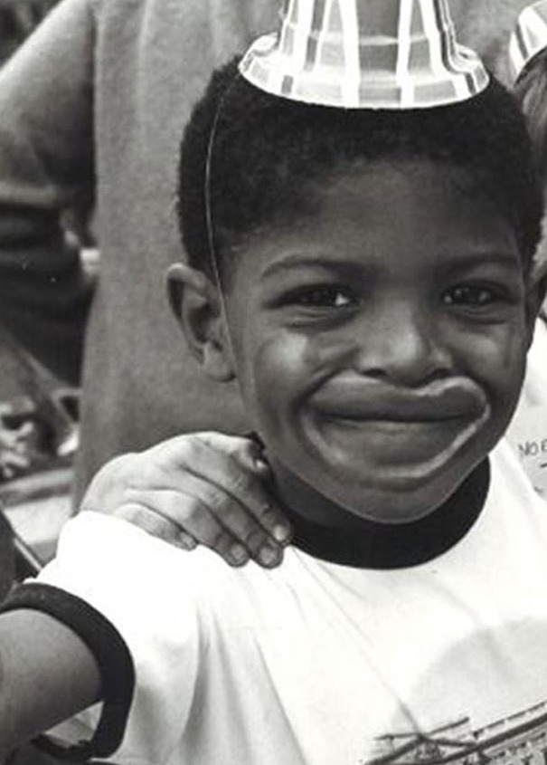 Noel Clarke at a street party in the 1980s