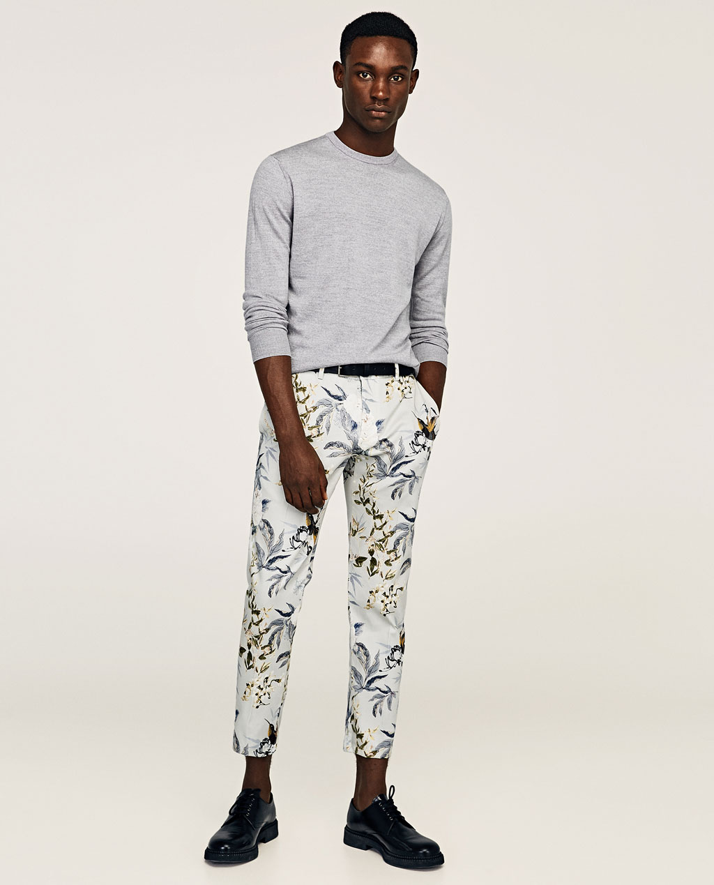 Floral trousers from Zara
