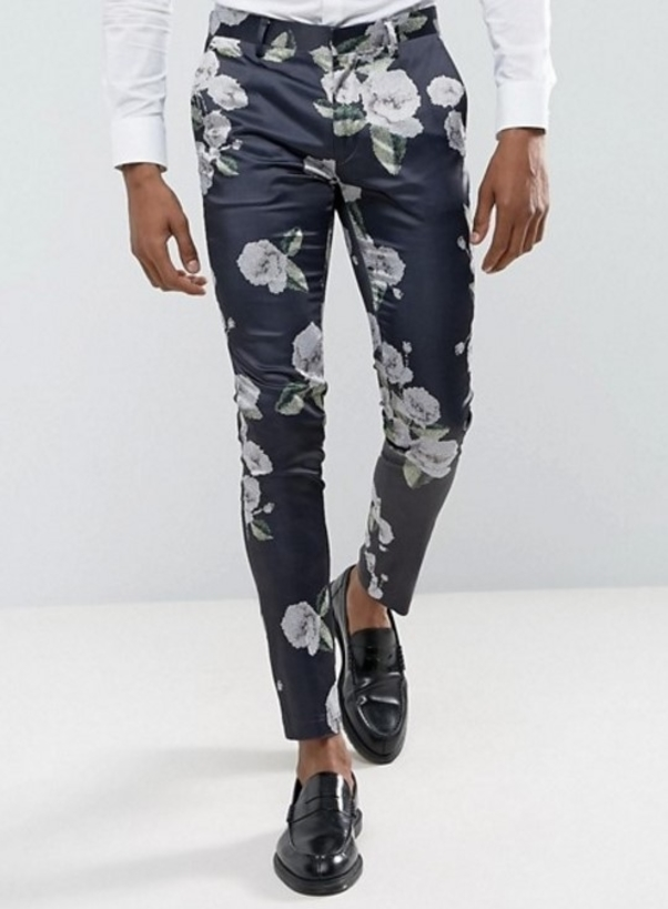 Floral trousers on Asos