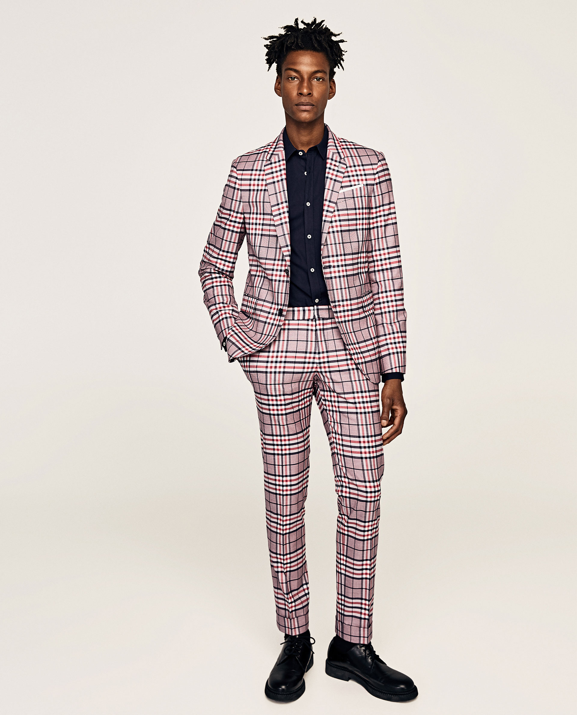 A checked suit from Zara