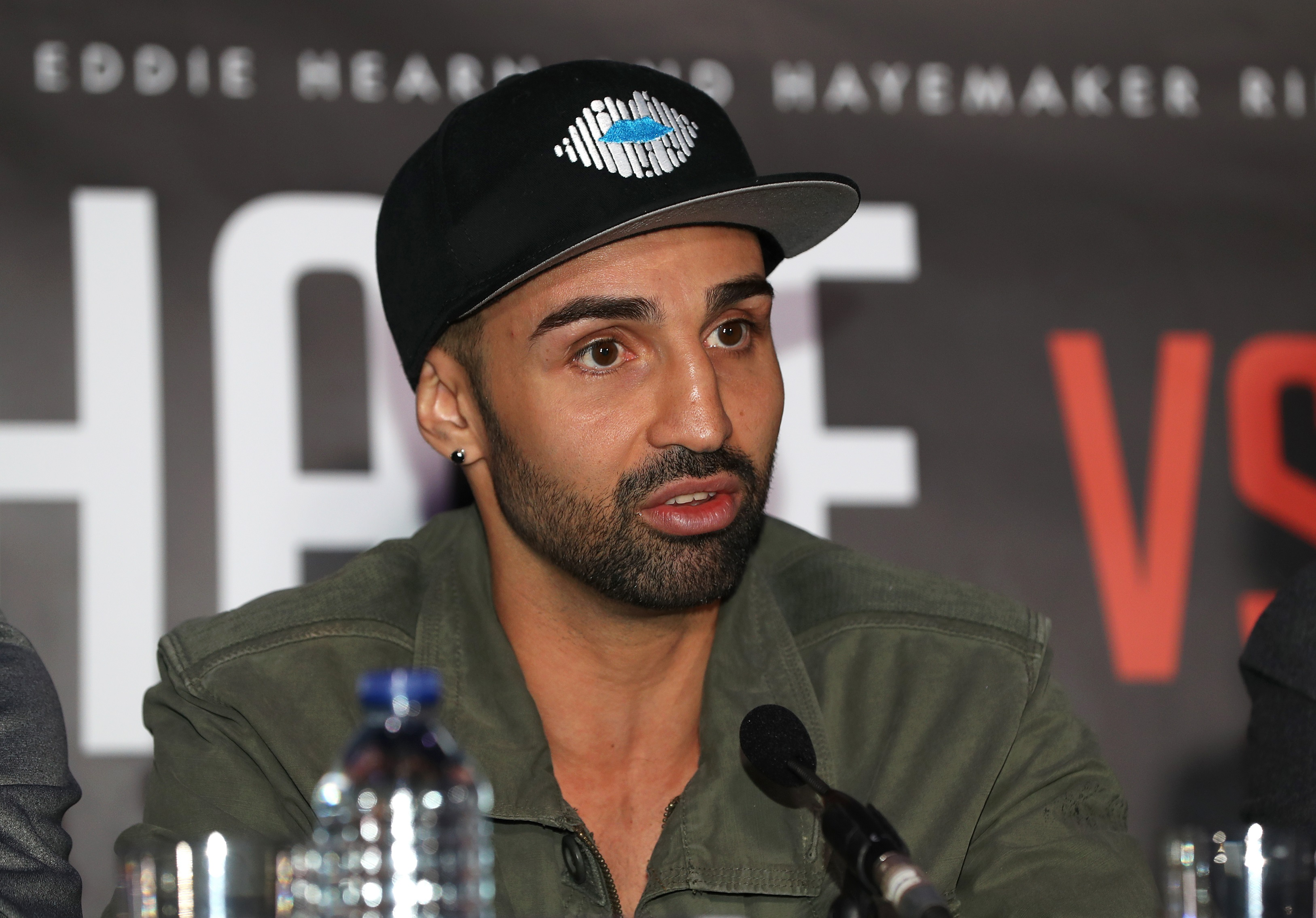 Paulie Malignaggi during a press conference