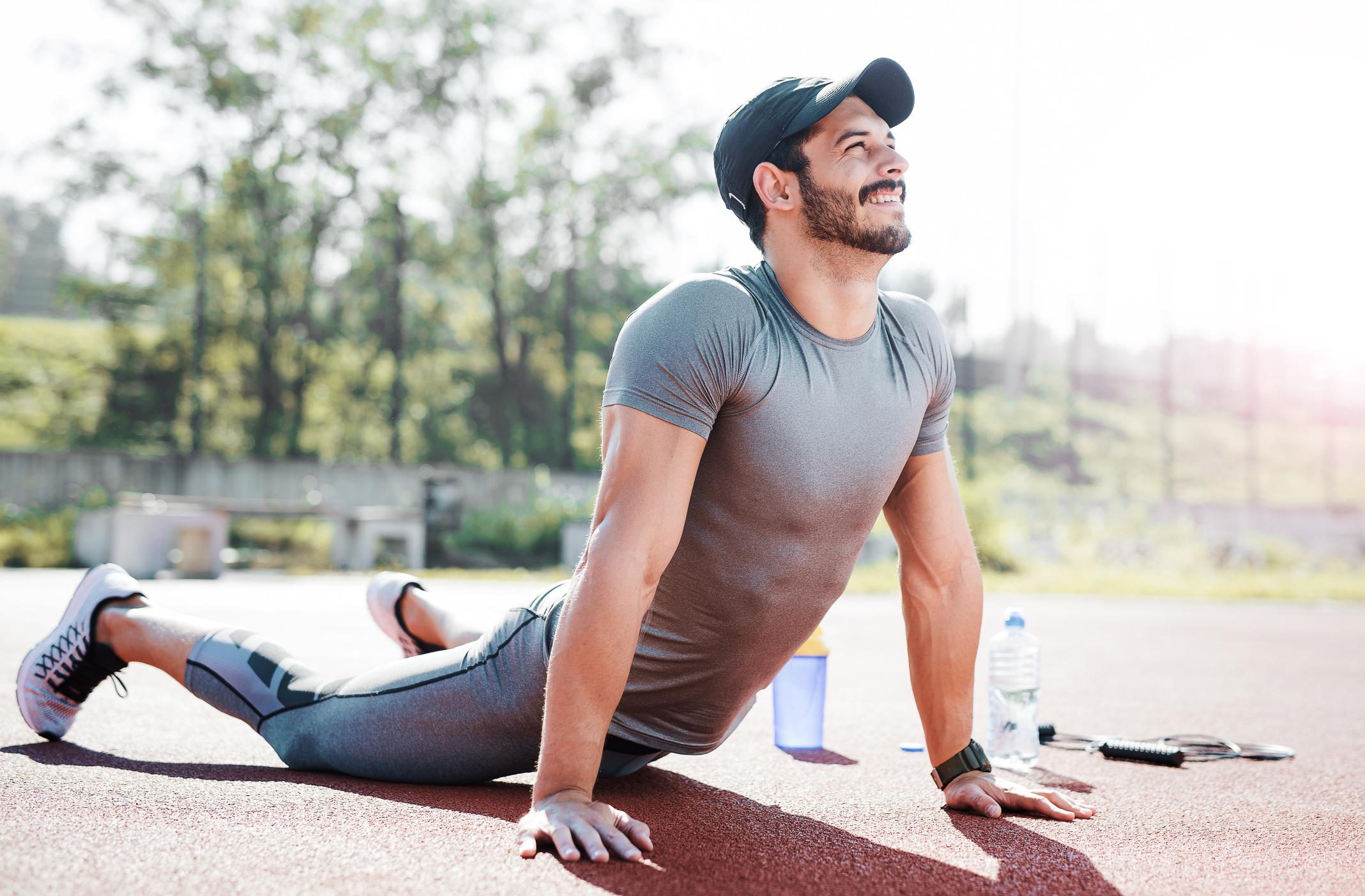 Generic photo of man stretching (Thinkstock/PA)